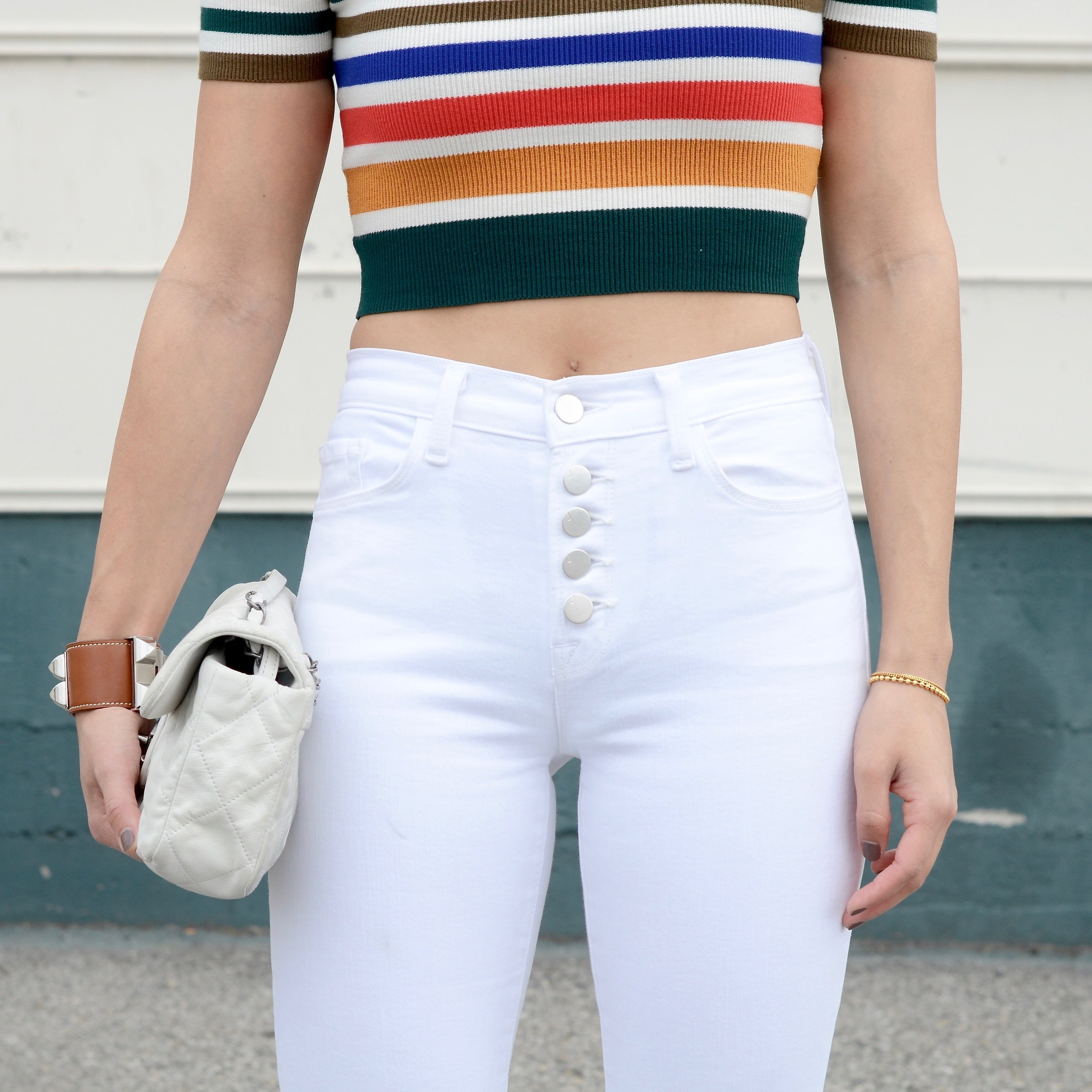 Just Goh With It - Urban Outfitters Striped Top White Flare Jeans - 8.jpg