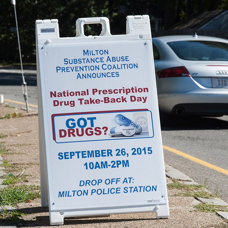MSAPC promoted National Drug Take-back Day and organized Milton's event.