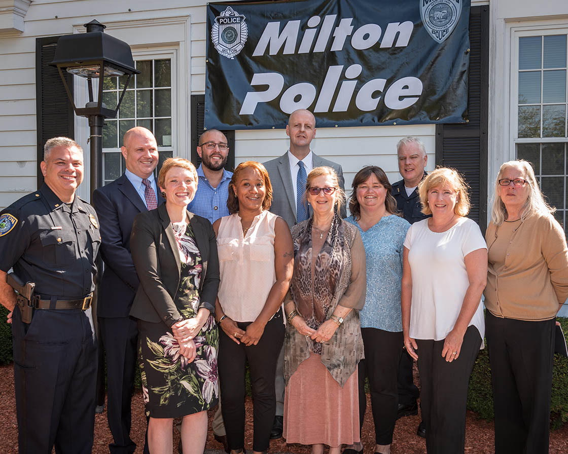 """Milton Cares!"" Partners at the Sept. 5 press conference."