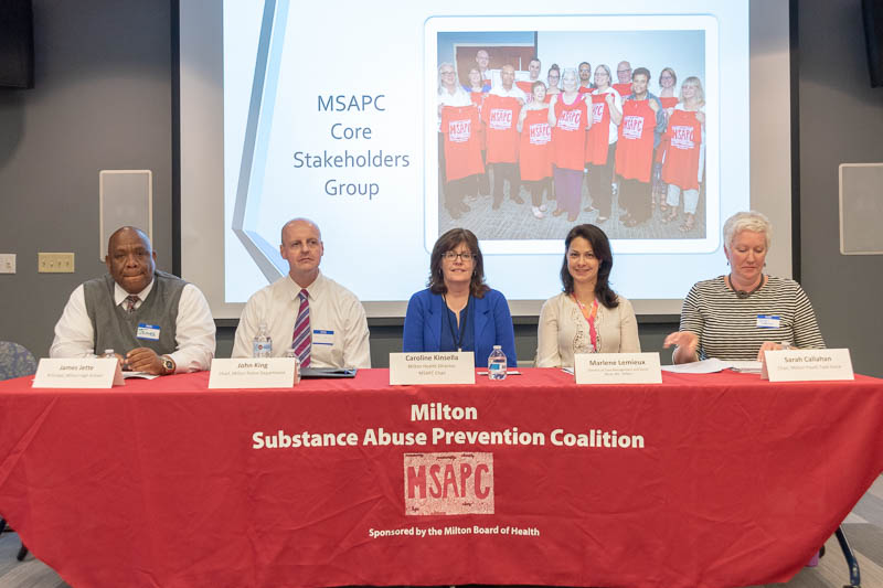 "MSAPC hosted five distinguished Milton leaders at its April 23, 2019 meeting entitled, ""Caring and Consequences: Milton Leaders Discuss Their Efforts to Address Youth Substance Use"""