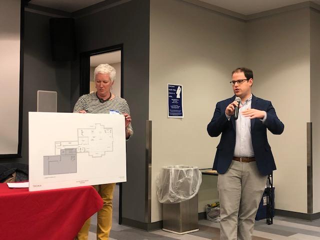 Reverend John Allen describes plans for the First Congregational Church to create a Milton Youth Center