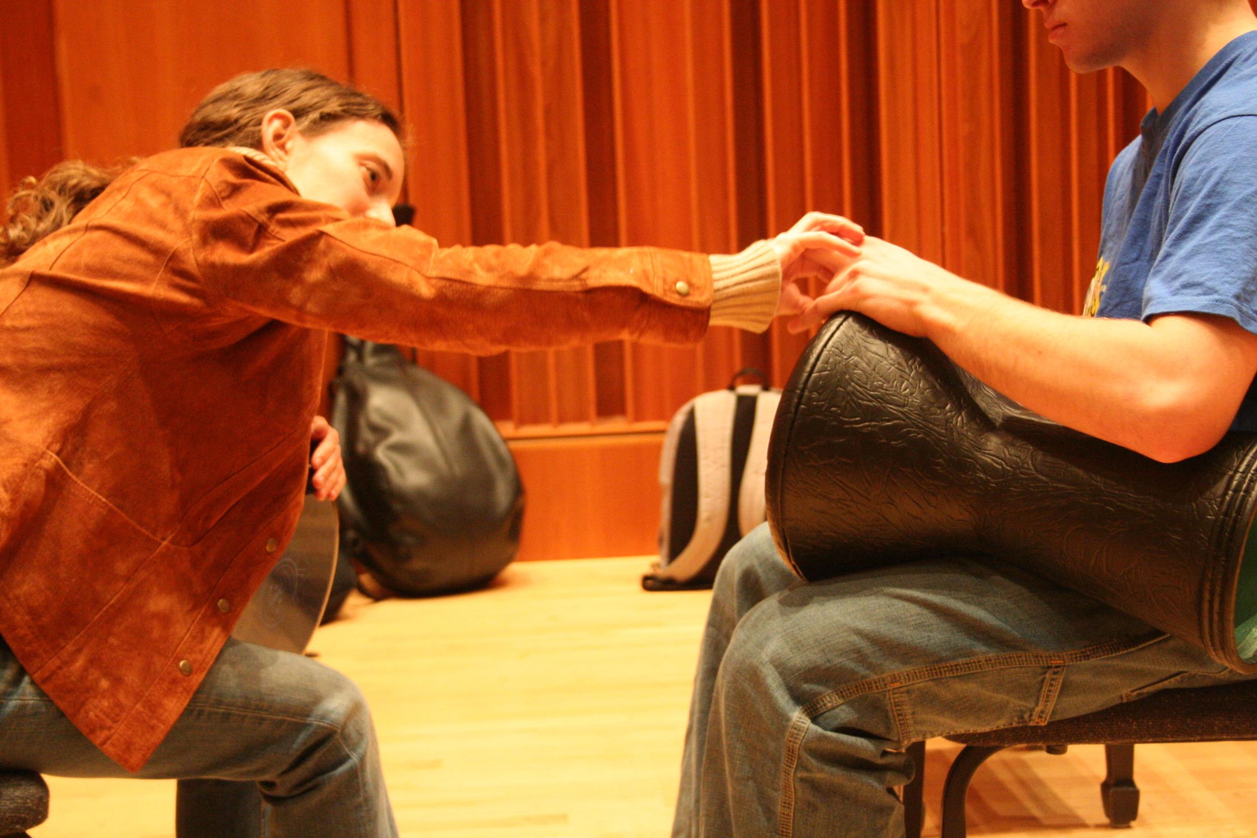 Bucknell April teaching dumbek.JPG