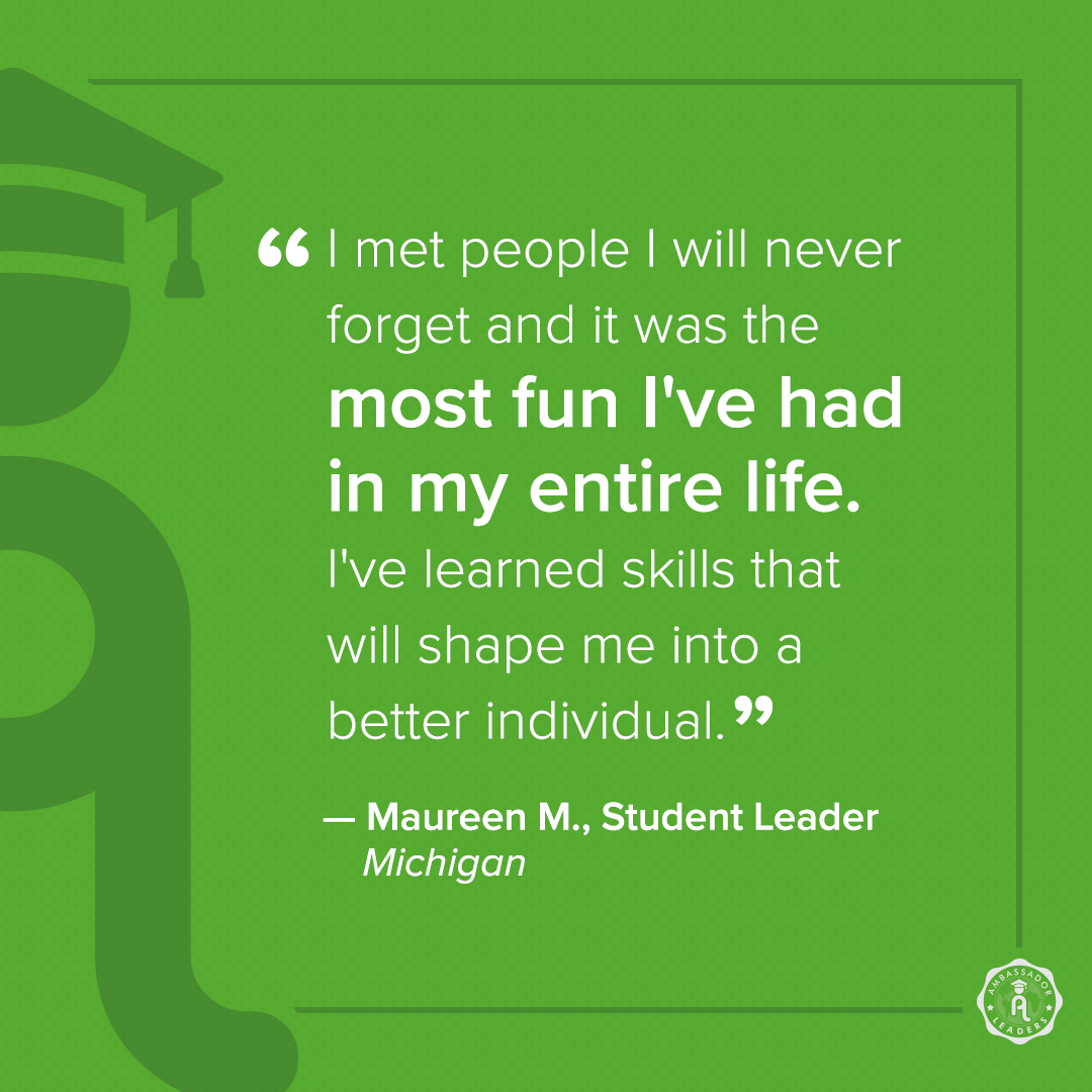 Ambassador Leaders reviews_student quote