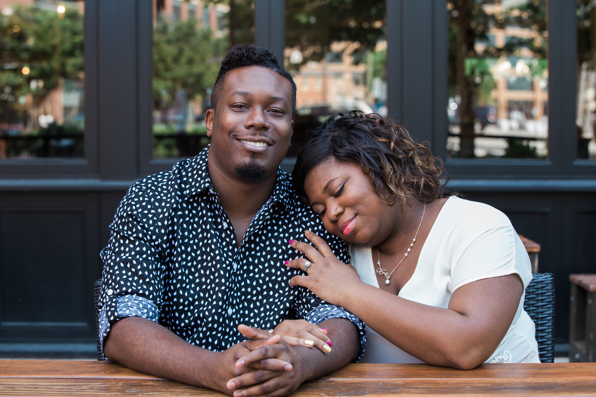 Engagement Session in Fells Point at Bond Street Social