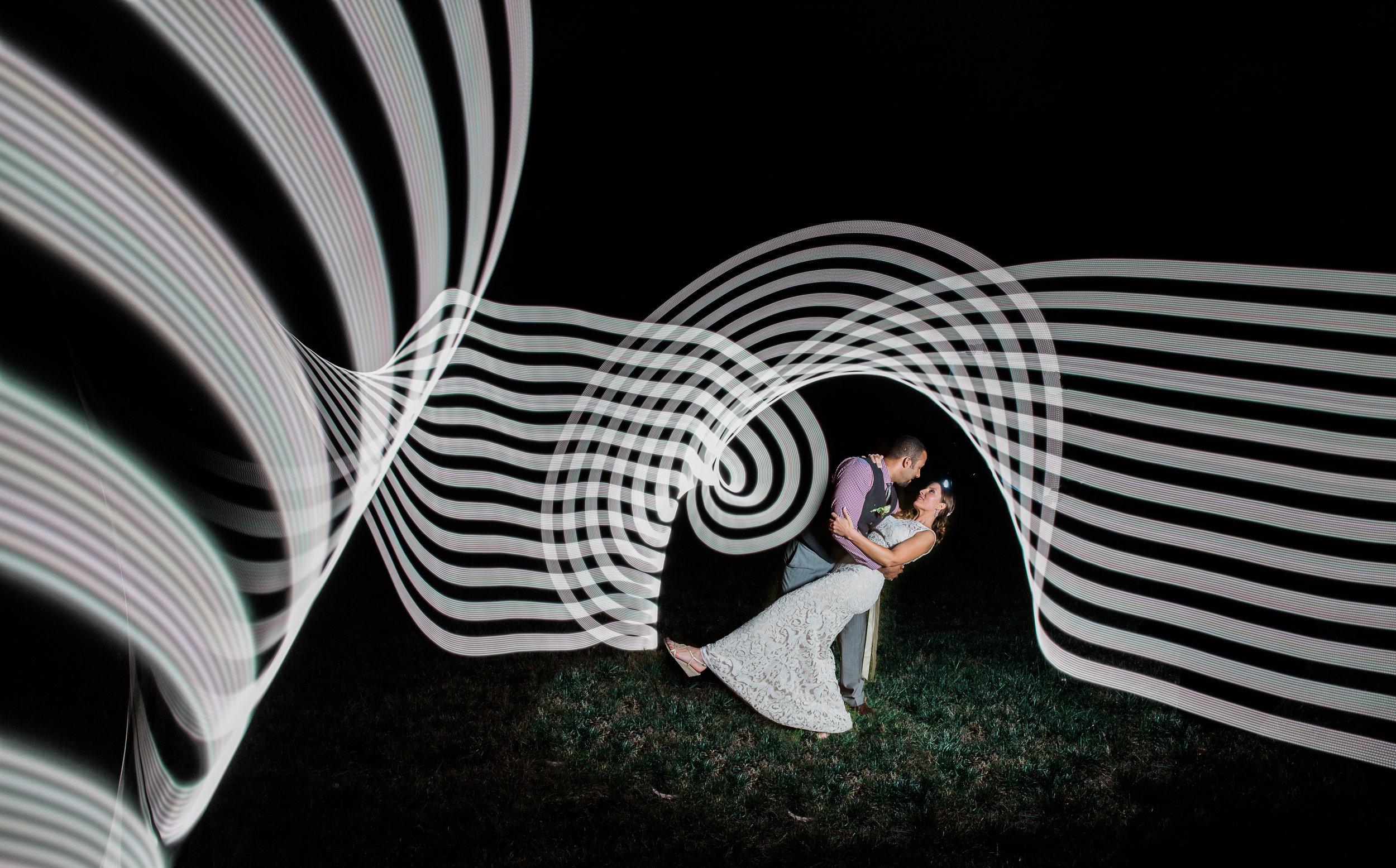 Light Painting Virginia Wedding Photographers Megapixels Media