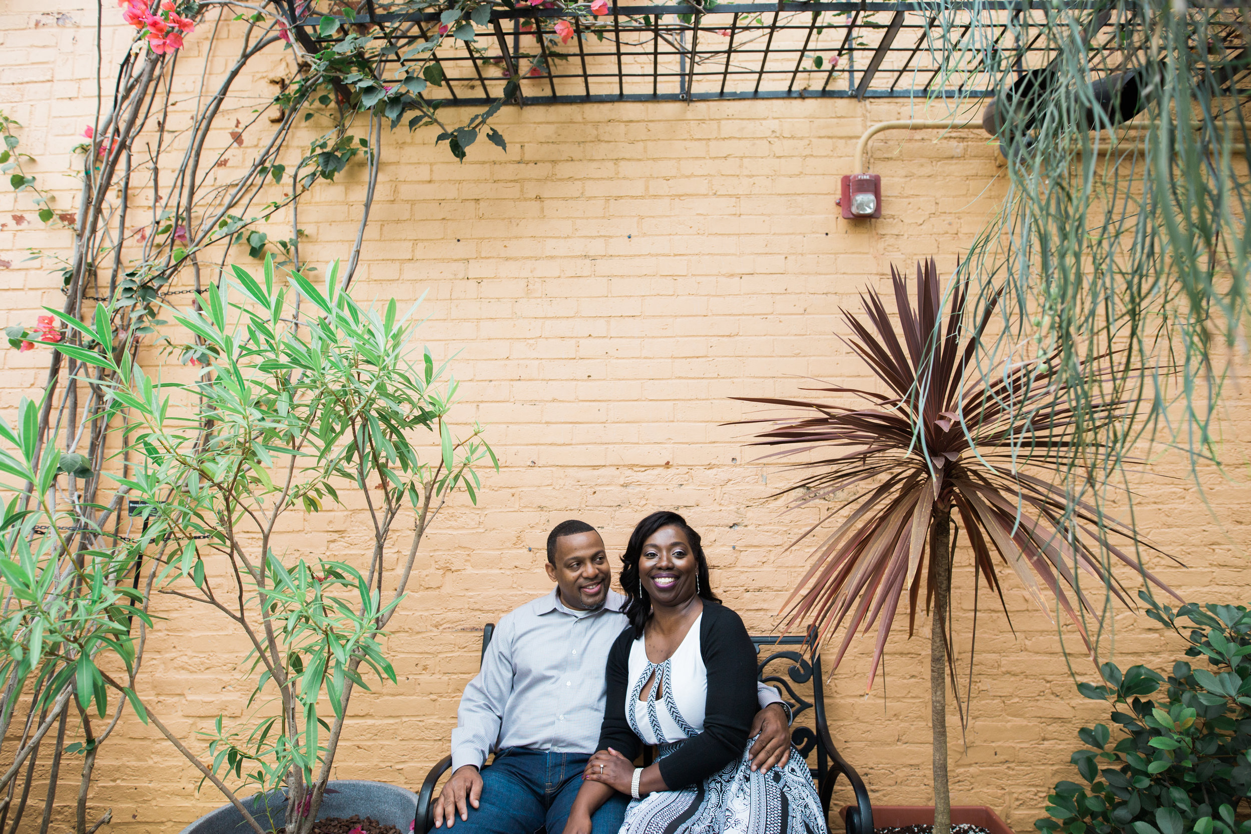 H.P. Rawlings Conservatory in Baltimore, Maryland Engagement Photos