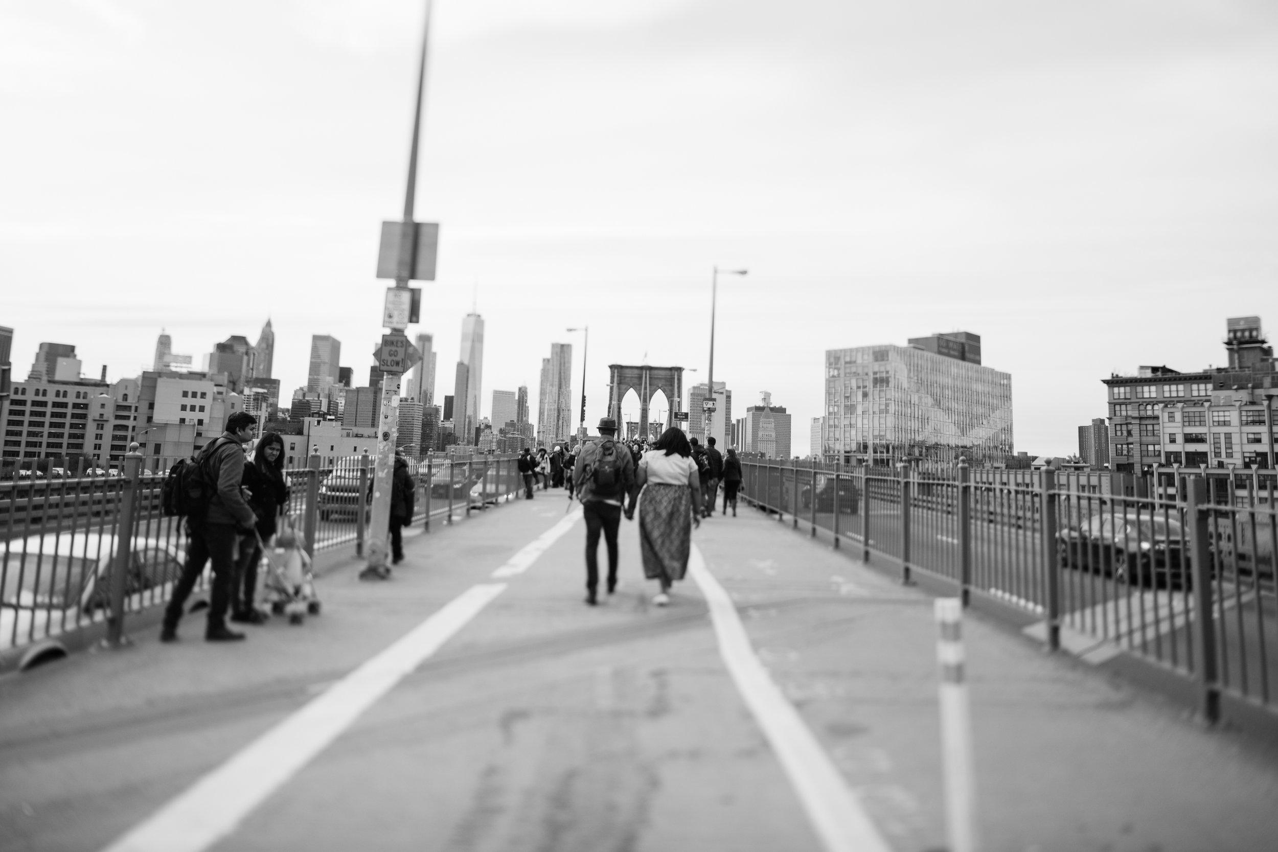 Engagement Session on the Brooklynn Bridge