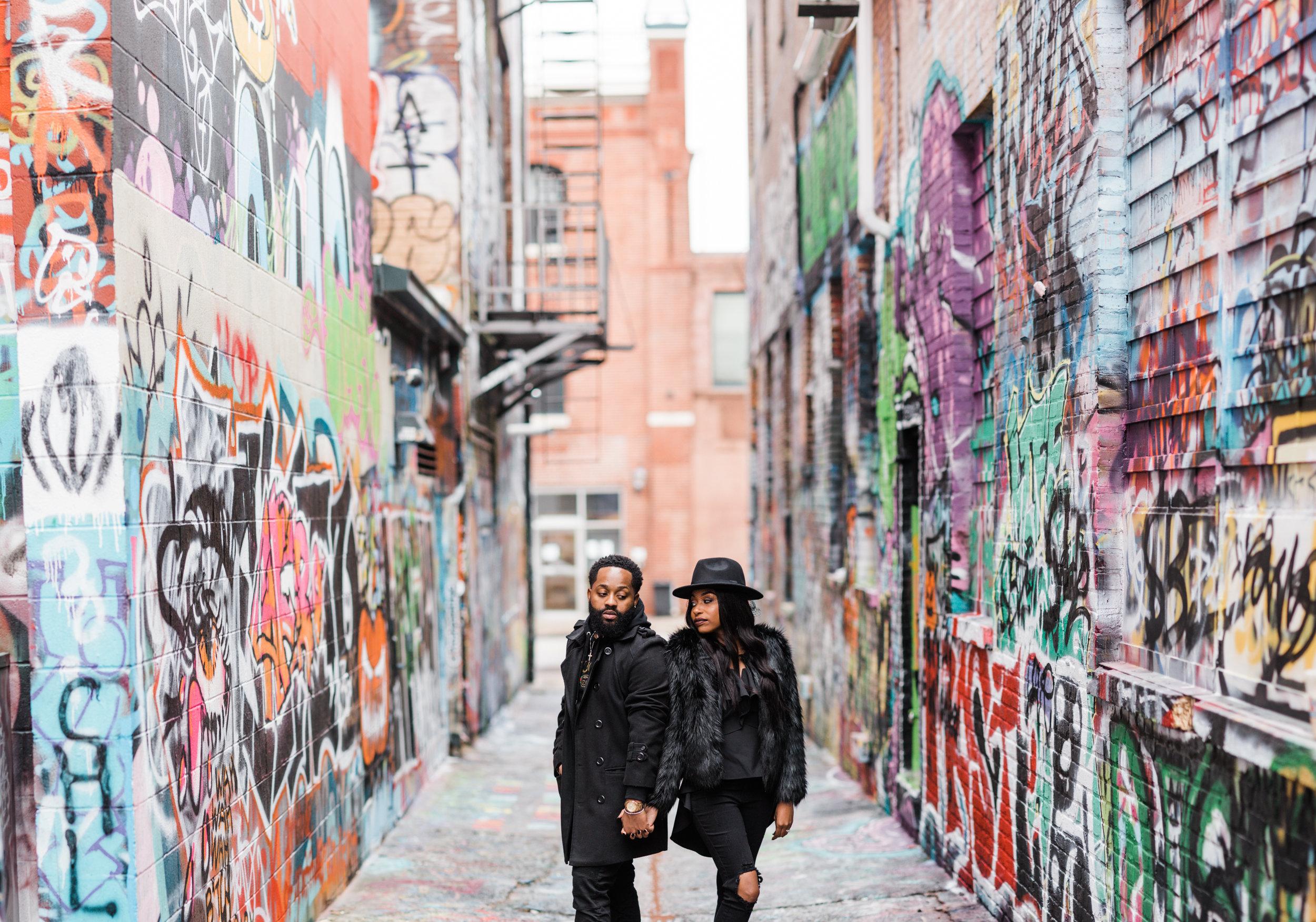 Creative Baltimore Graffiti Alley Engagement Session Megapixels Media Photography-1.jpg