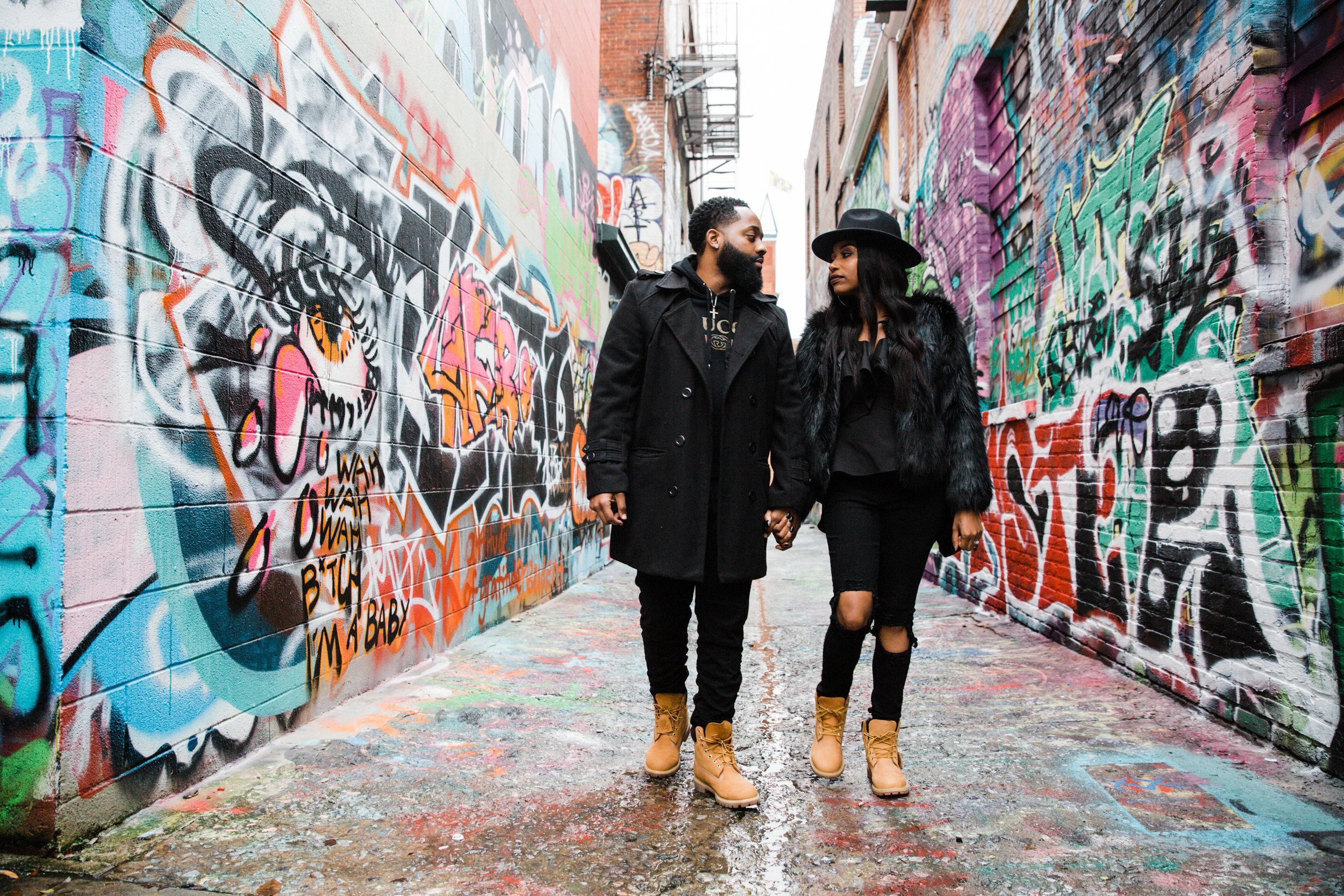 Creative Baltimore Graffiti Alley Engagement Session Megapixels Media Photography-4.jpg