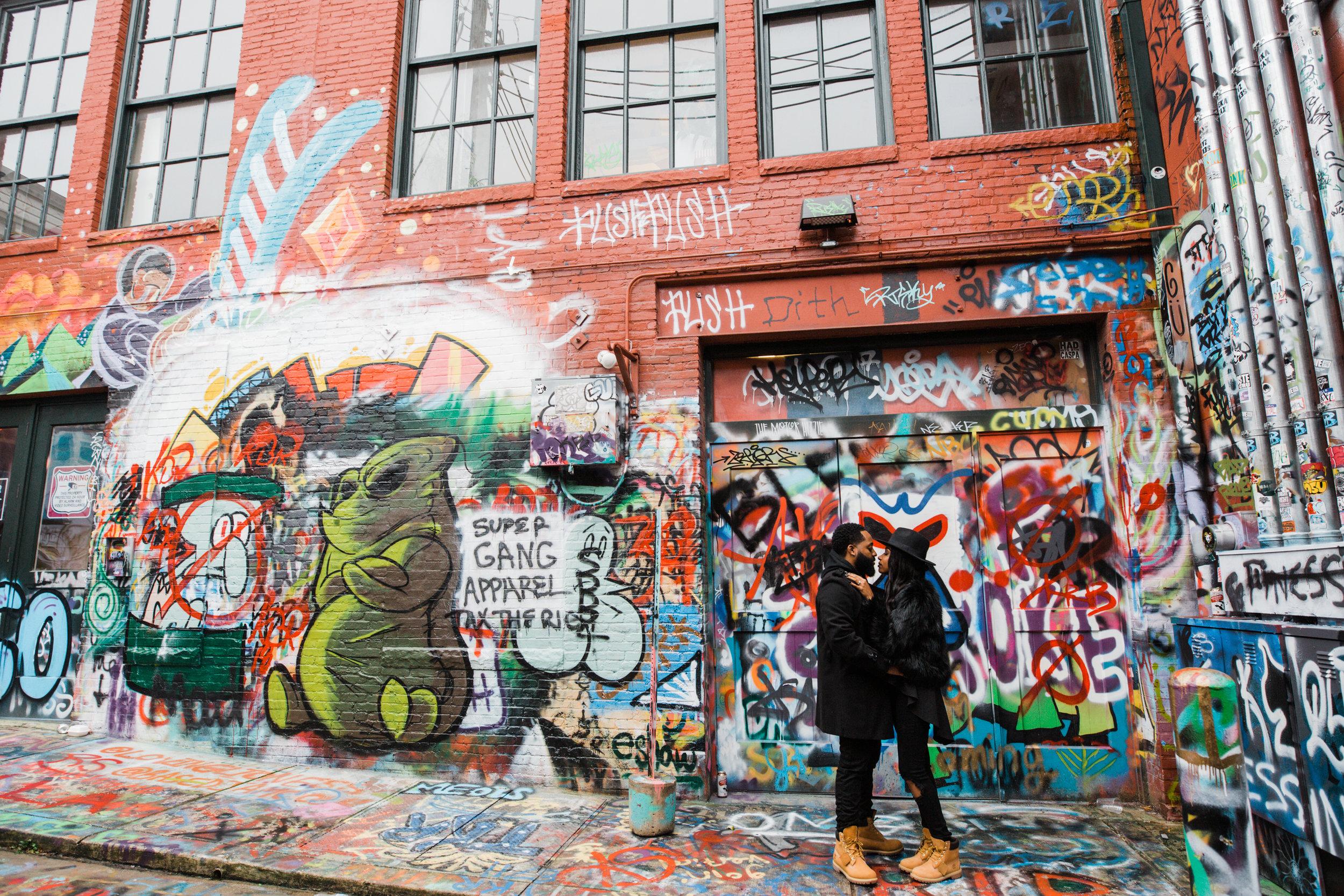 Creative Baltimore Graffiti Alley Engagement Session Megapixels Media Photography-10.jpg