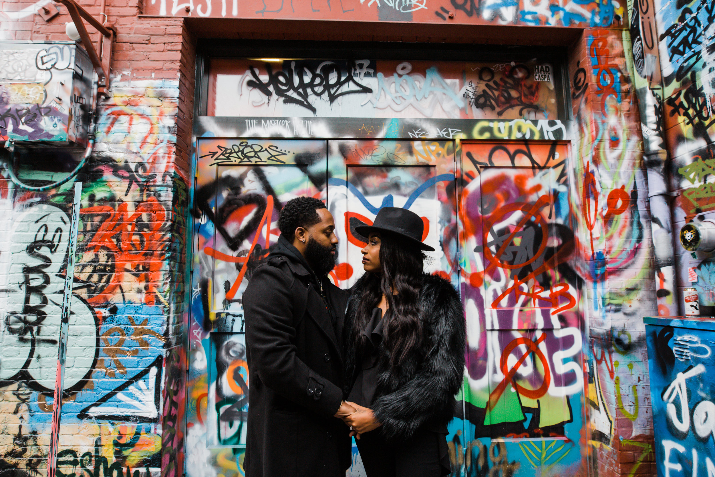 Creative Baltimore Graffiti Alley Engagement Session Megapixels Media Photography-15.jpg