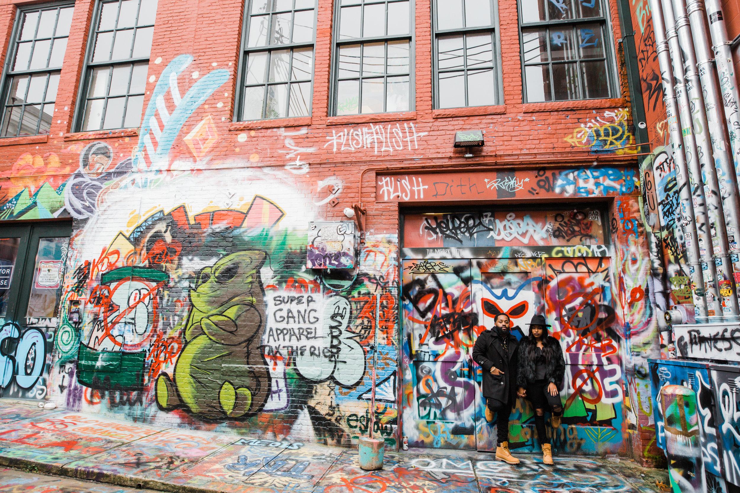 Creative Baltimore Graffiti Alley Engagement Session Megapixels Media Photography-16.jpg
