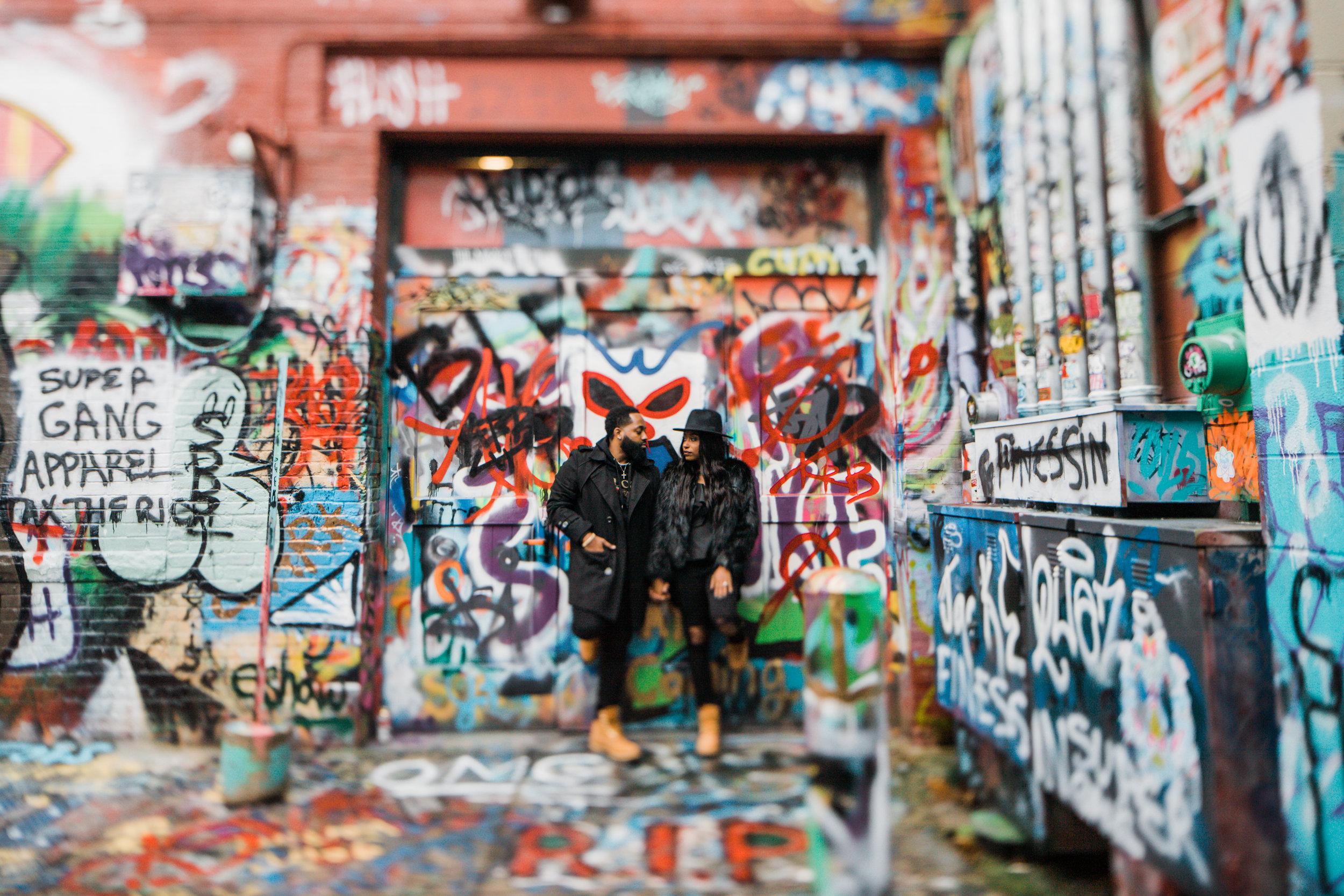 Creative Baltimore Graffiti Alley Engagement Session Megapixels Media Photography-17.jpg