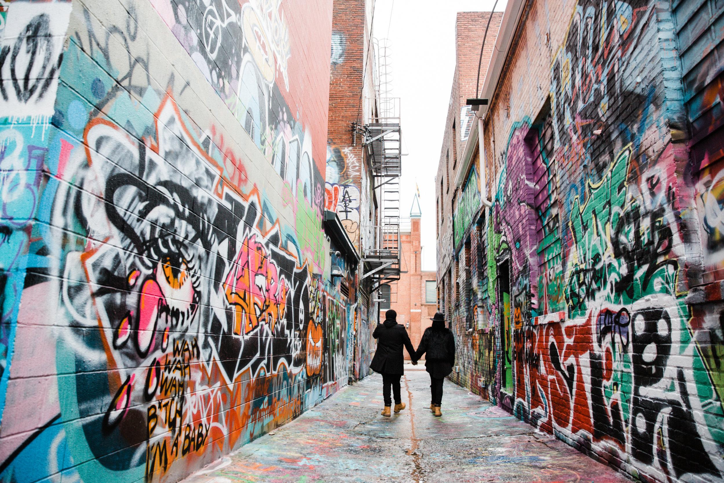 Creative Baltimore Graffiti Alley Engagement Session Megapixels Media Photography-53.jpg