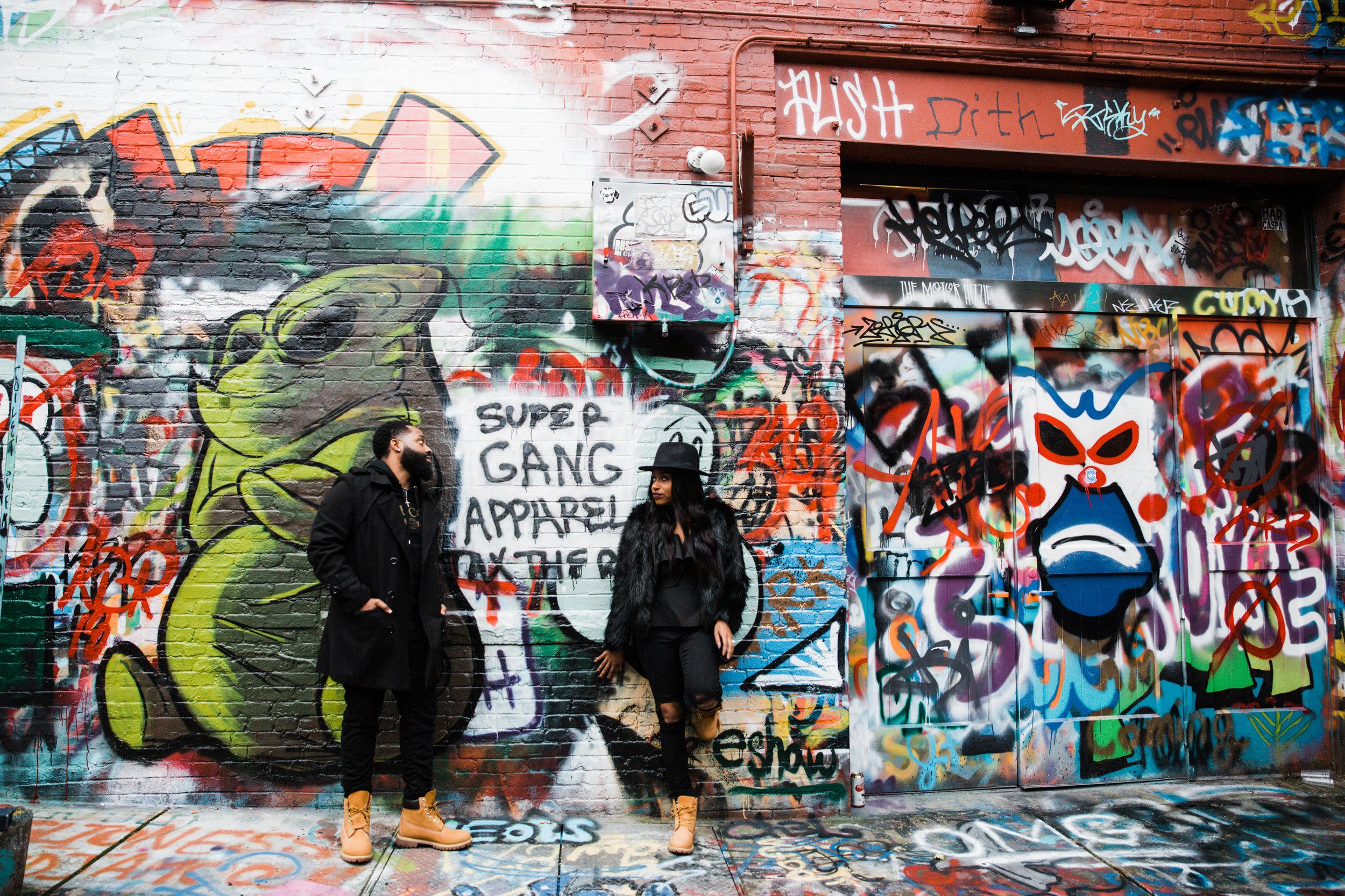Creative Baltimore Graffiti Alley Engagement Session Megapixels Media Photography-42.jpg