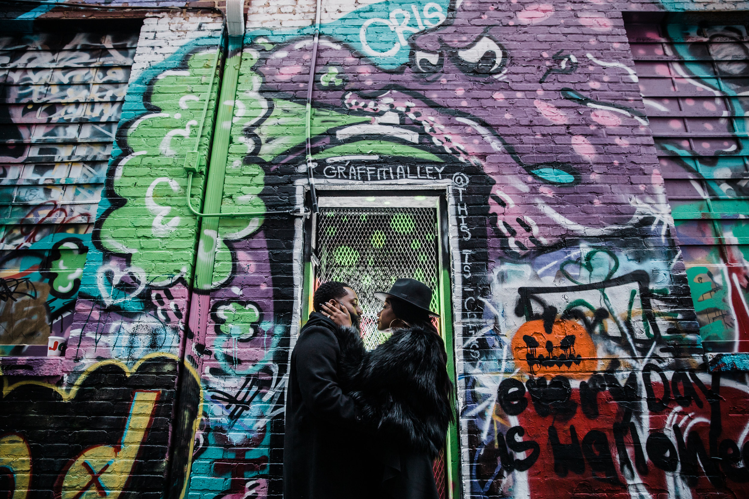 Creative Baltimore Graffiti Alley Engagement Session Megapixels Media Photography-46.jpg