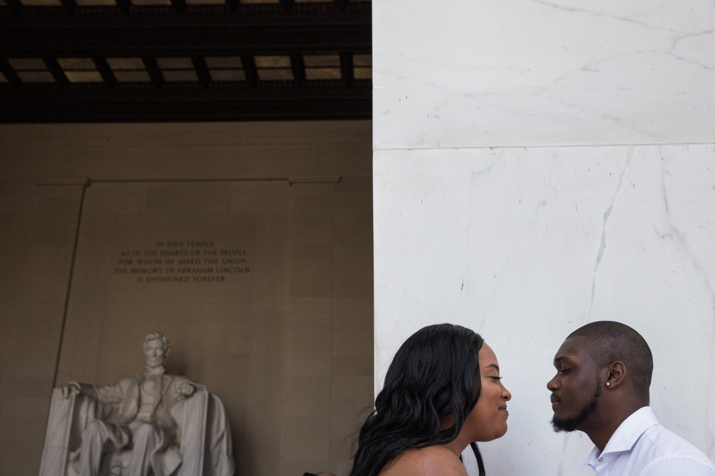 Top Engagement Photographs in Maryland by Megapixels Media Photography at the Lincoln Memorial.jpg