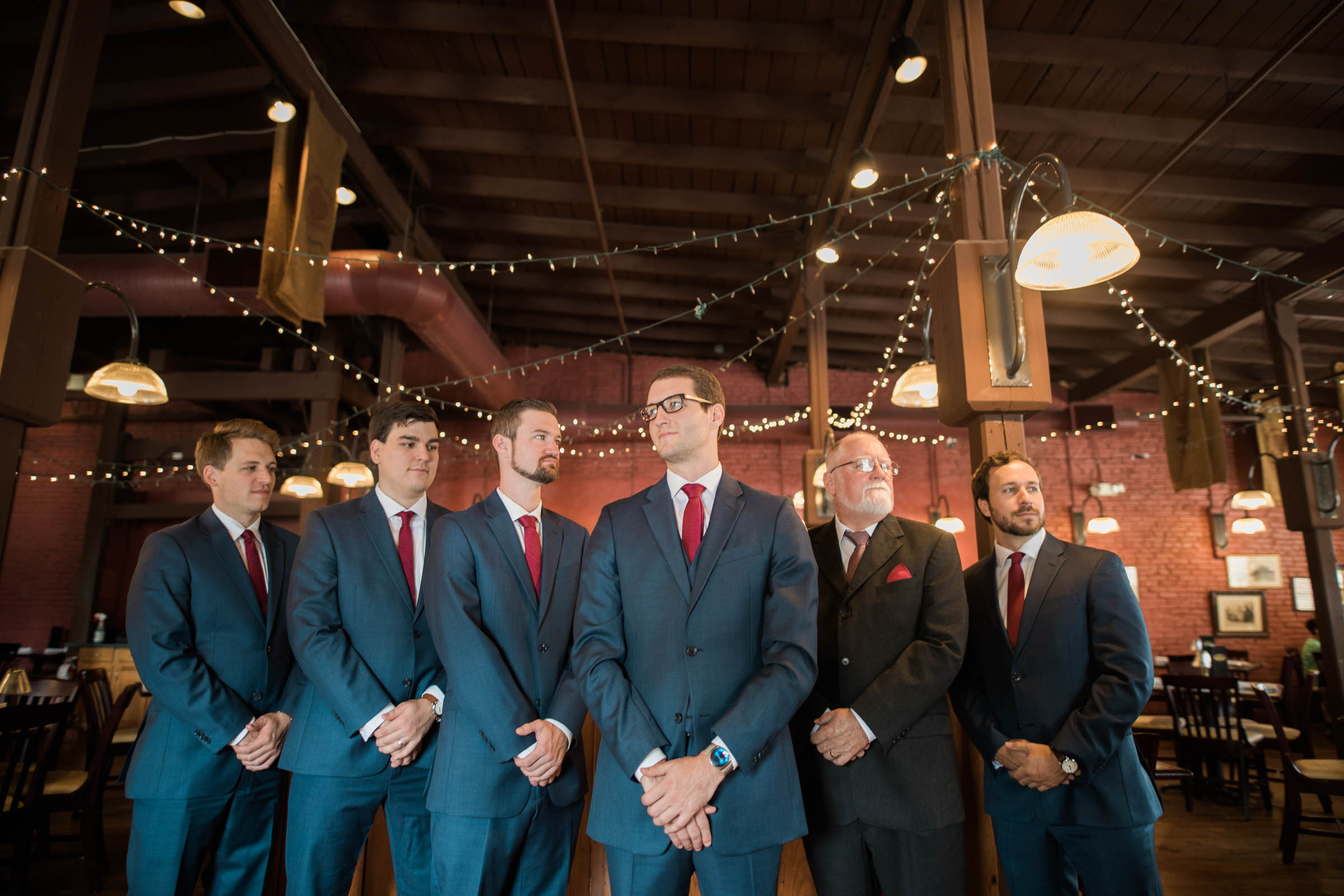 Ellicott City Wedding Photography by Megapixels Media Top Maryland Wedding Photographer Groom with Blue Suit and red tie.jpg