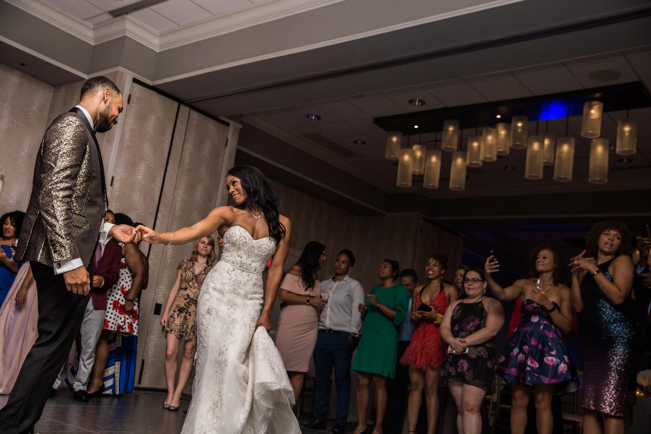 Black Wedding Photographer in Baltimore Megapixels Media black bride first dance.jpg