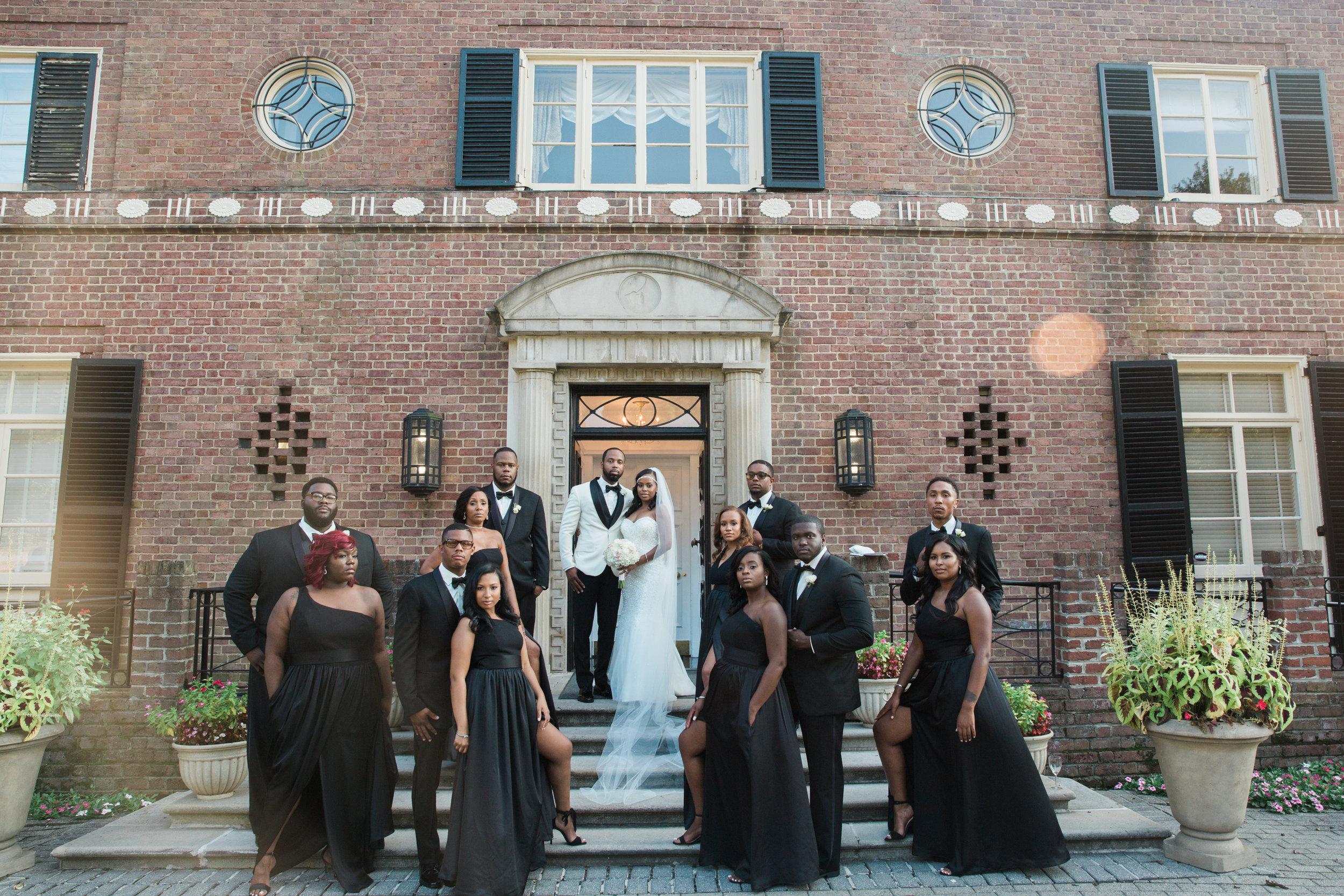 Black Wedding Photographer in Washington DC Megapixels Media black bridal party.jpg