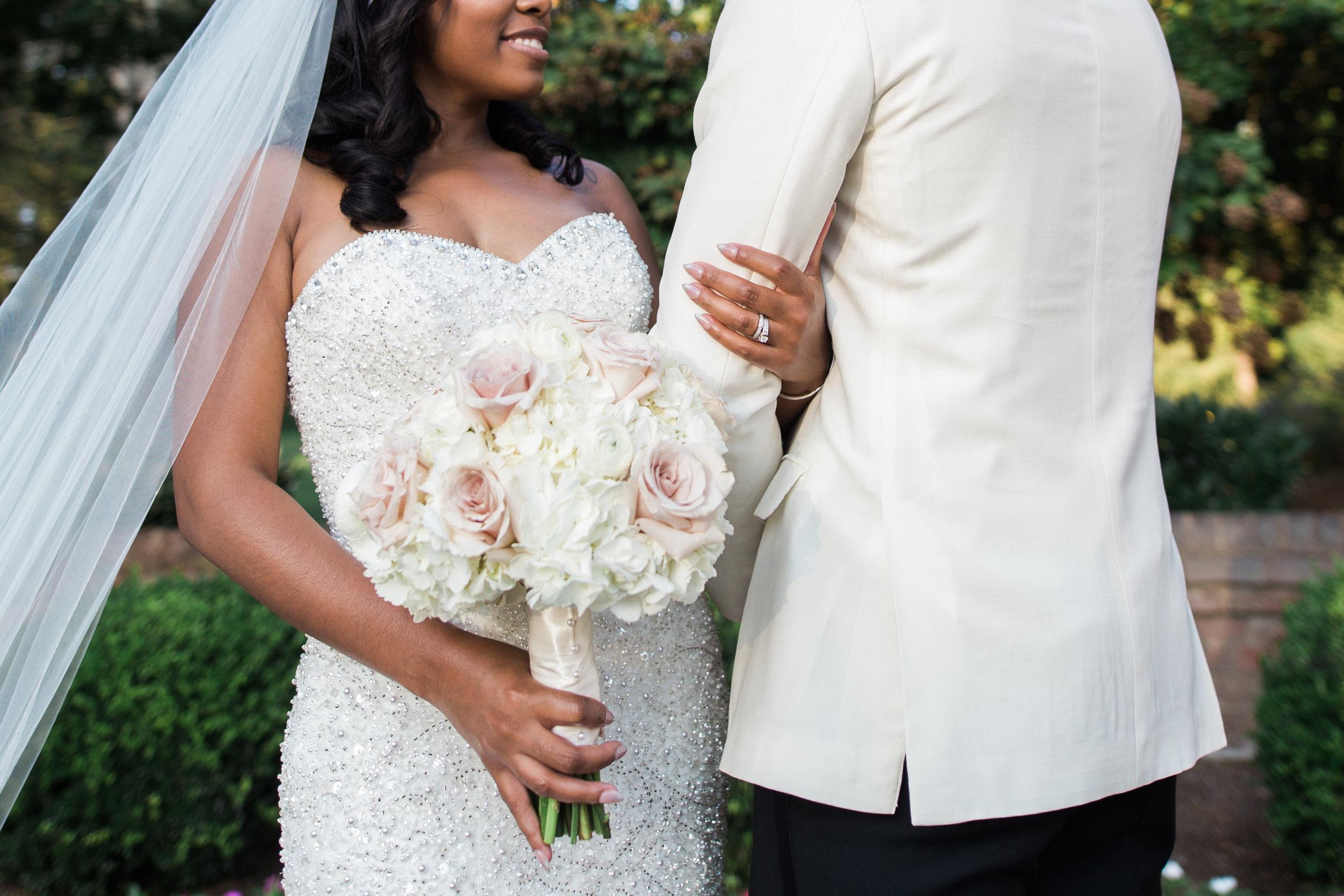 Black Wedding Photographer in Washington DC Megapixels Media black bride with bridal bouquet.jpg