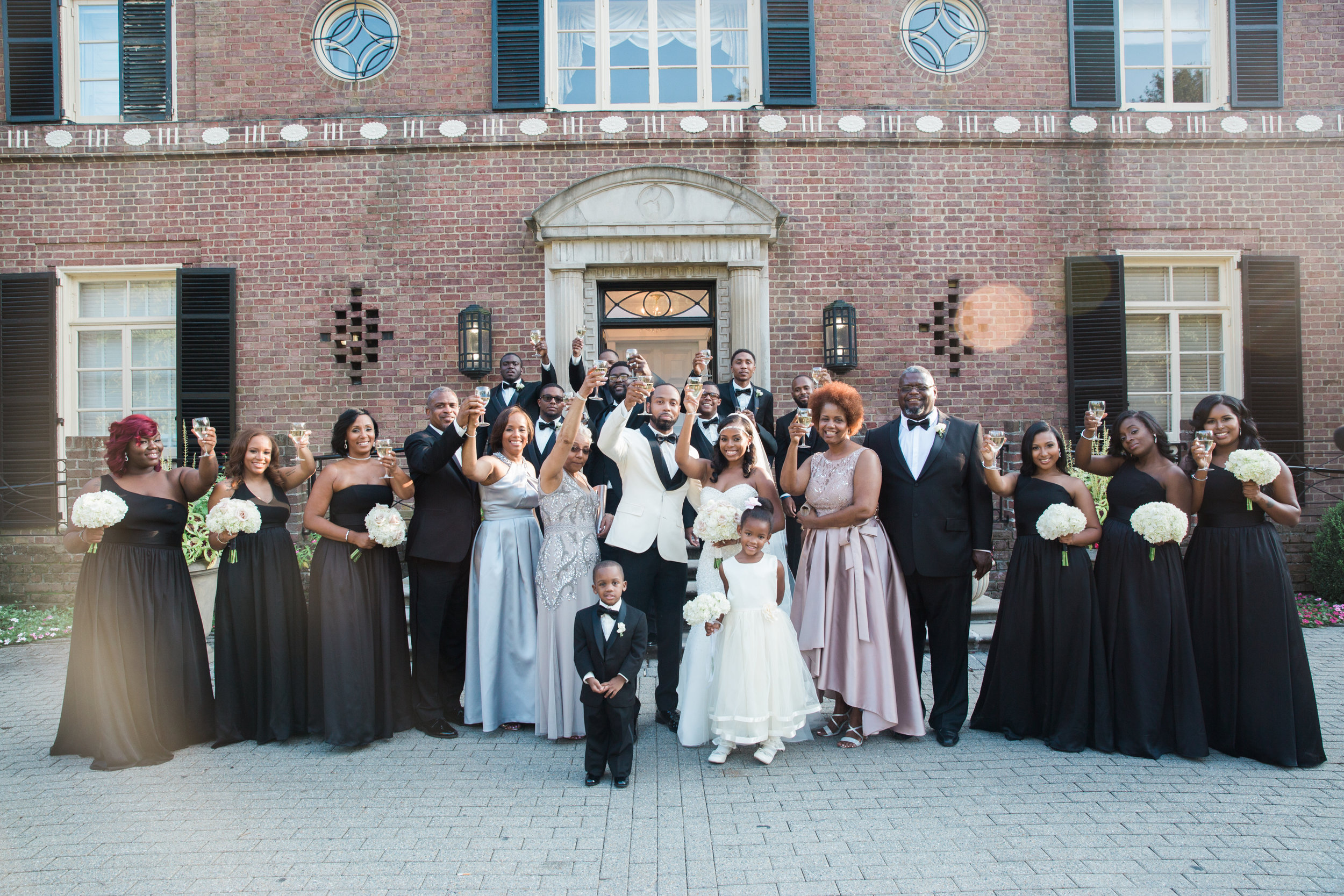 Black Wedding Photographer in Washington DC Megapixels Media black bridesmaids dresses.jpg