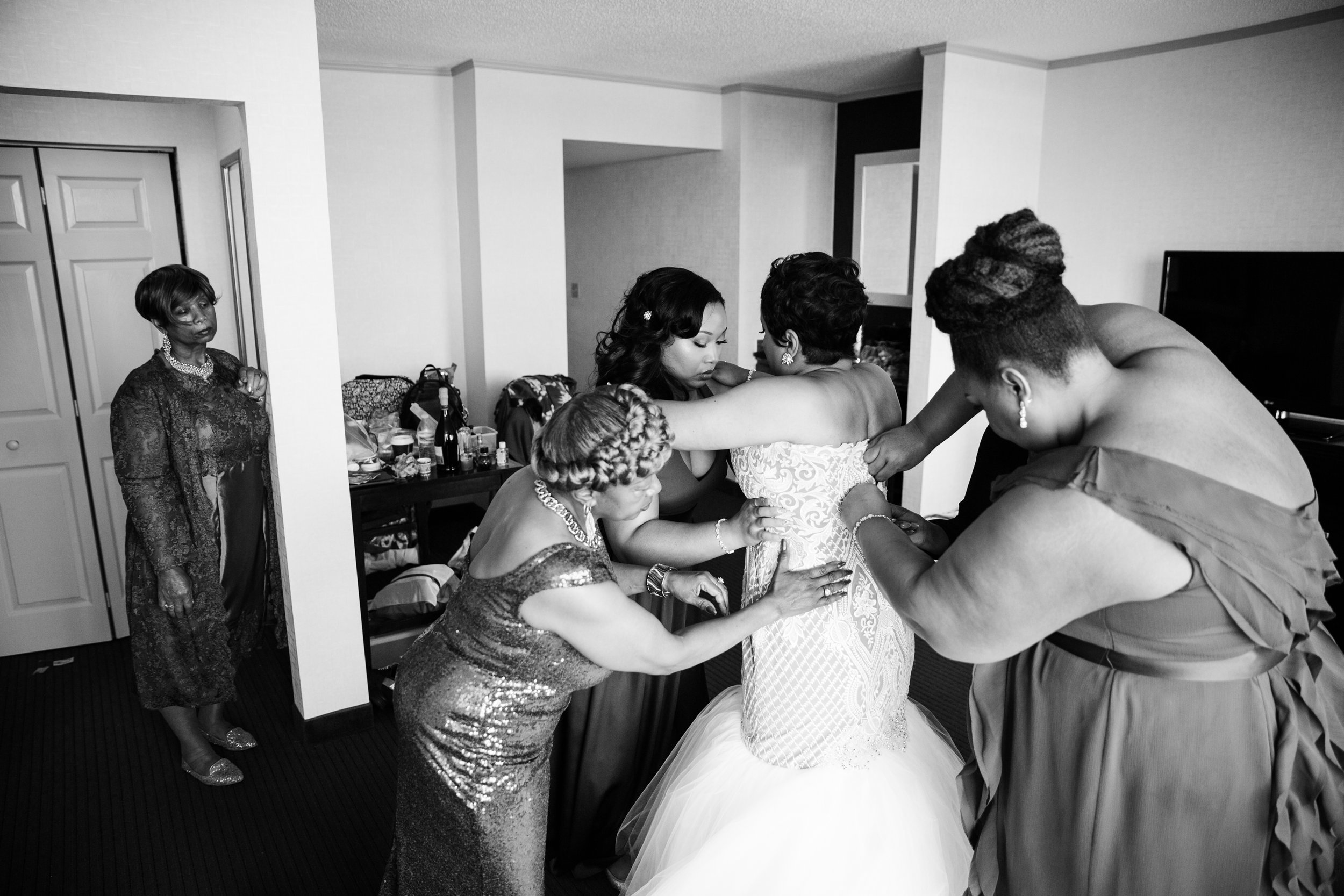 Best Classic Black Bride at The Grand Baltimore Maryland Husband and Wife Wedding Photographers Megapixels Media (19 of 98).jpg