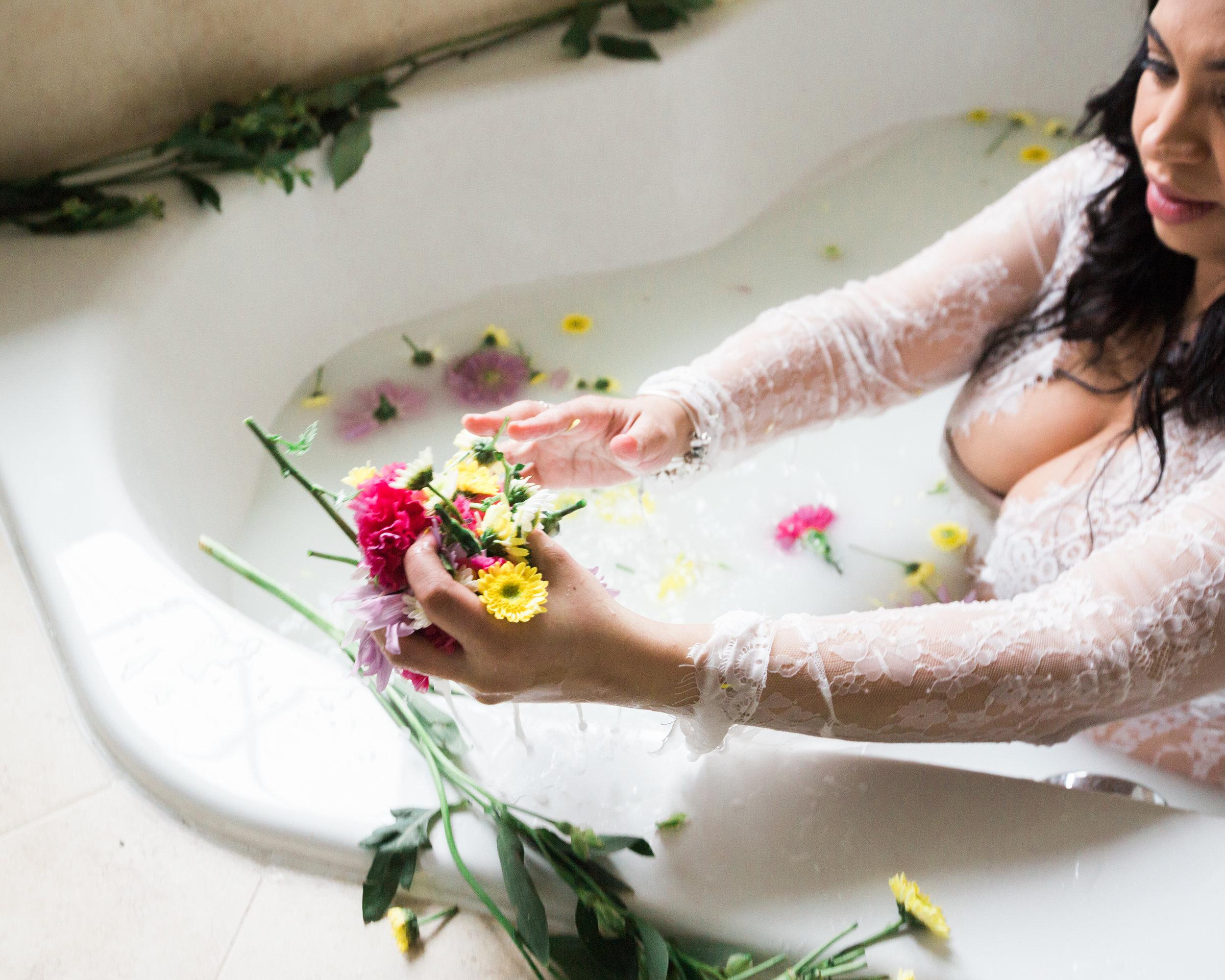 Best Ingredients for a Milk Bath Baltimore Black Mom Maternity Photographer Megapixels Media Photography-5.jpg