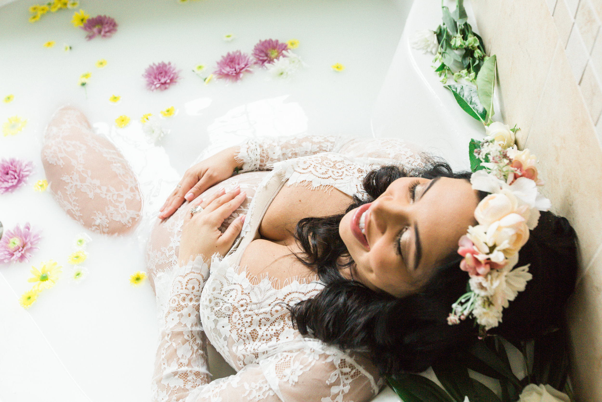 Best Ingredients for a Milk Bath Baltimore Black Mom Maternity Photographer Megapixels Media Photography-11.jpg