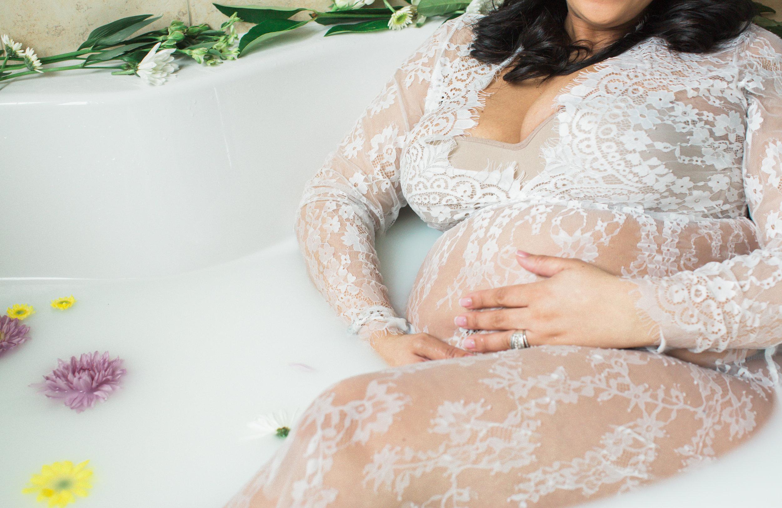 Best Ingredients for a Milk Bath Baltimore Black Mom Maternity Photographer Megapixels Media Photography-13.jpg