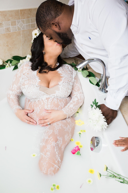 Best Ingredients for a Milk Bath Baltimore Black Mom Maternity Photographer Megapixels Media Photography-16.jpg