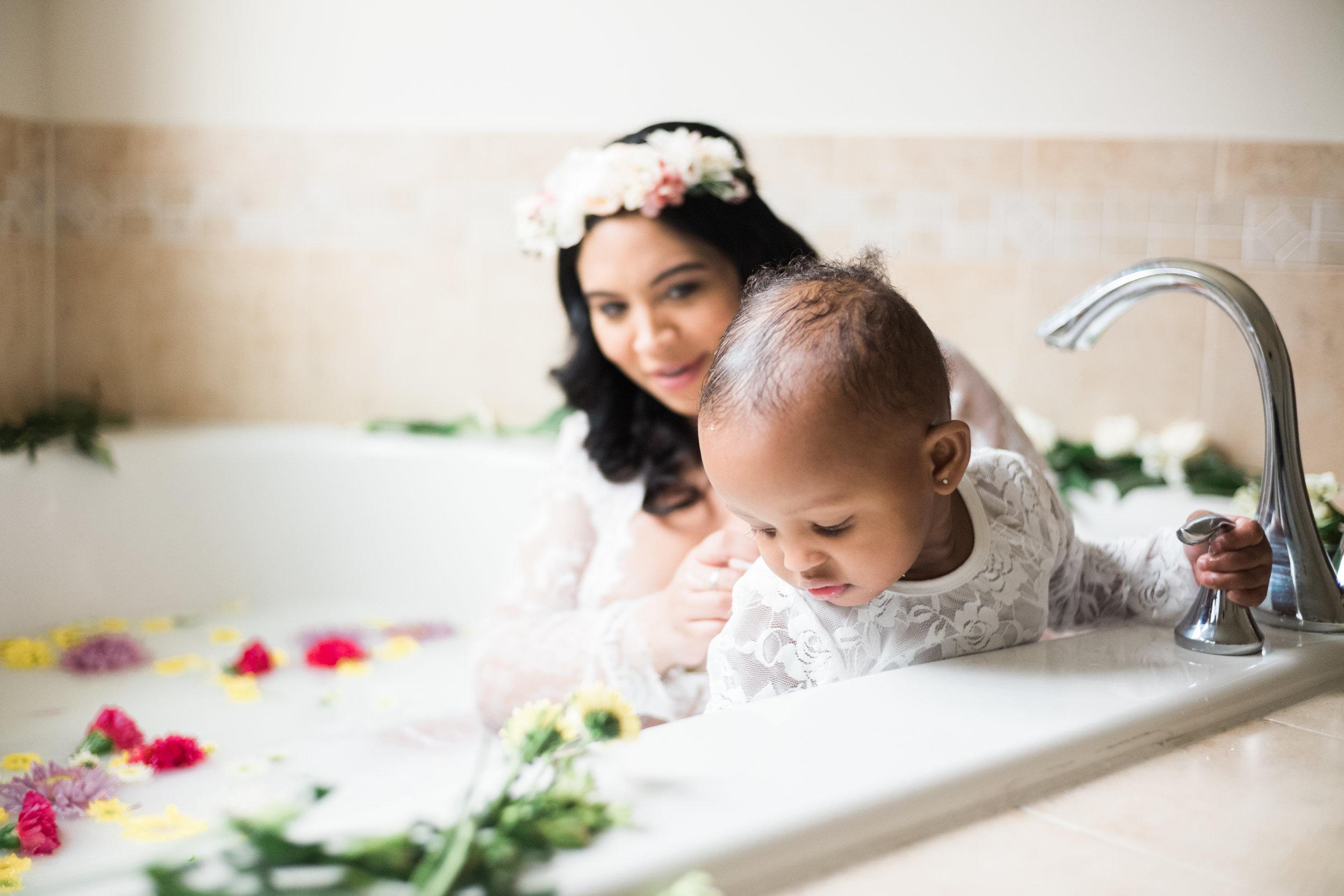 Best Ingredients for a Milk Bath Baltimore Black Mom Maternity Photographer Megapixels Media Photography-19.jpg