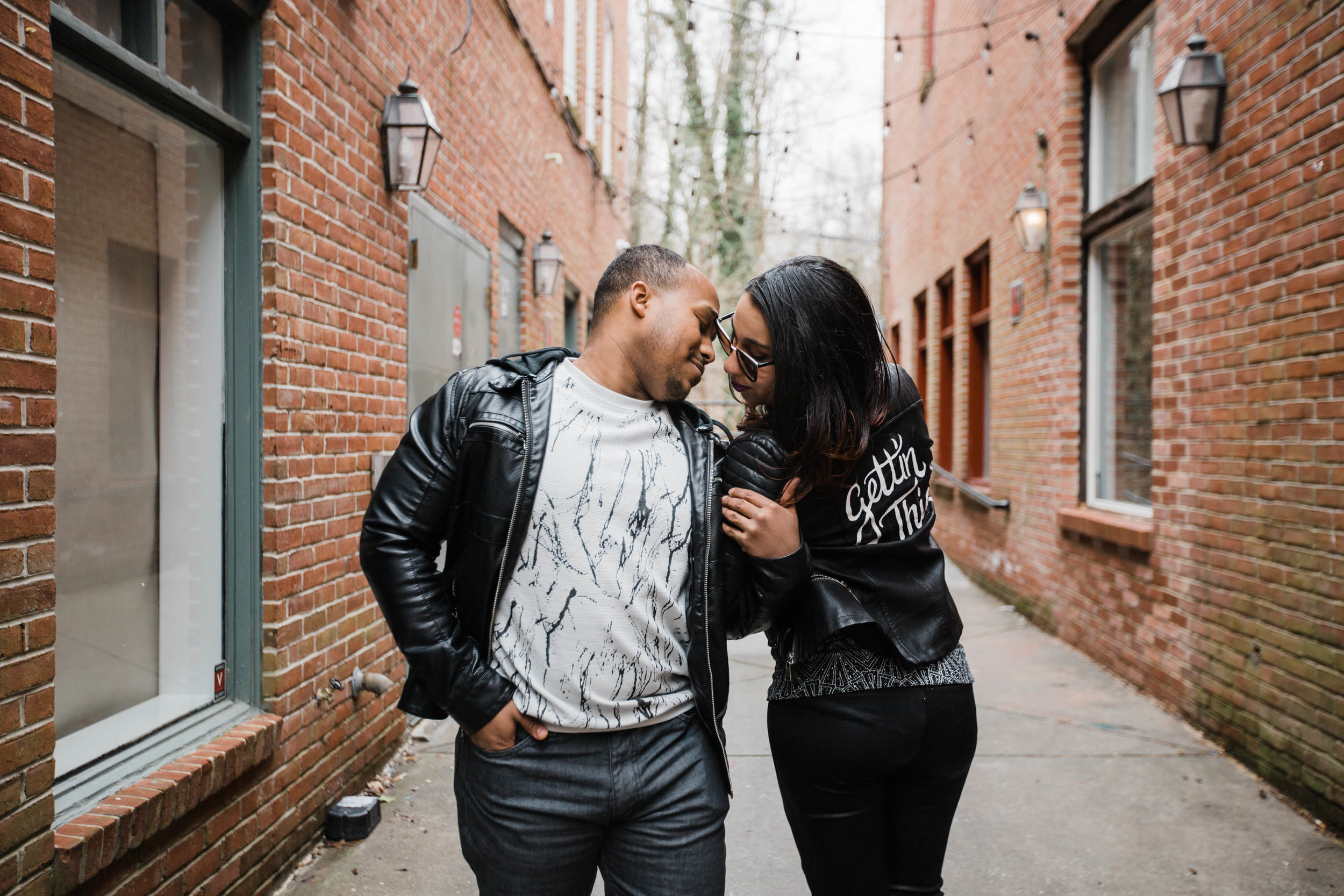 Hand lettered Black Leather jacket Pregnancy Announcement Baltimore Maternity Photographer Megapixels Media Photography-2.jpg