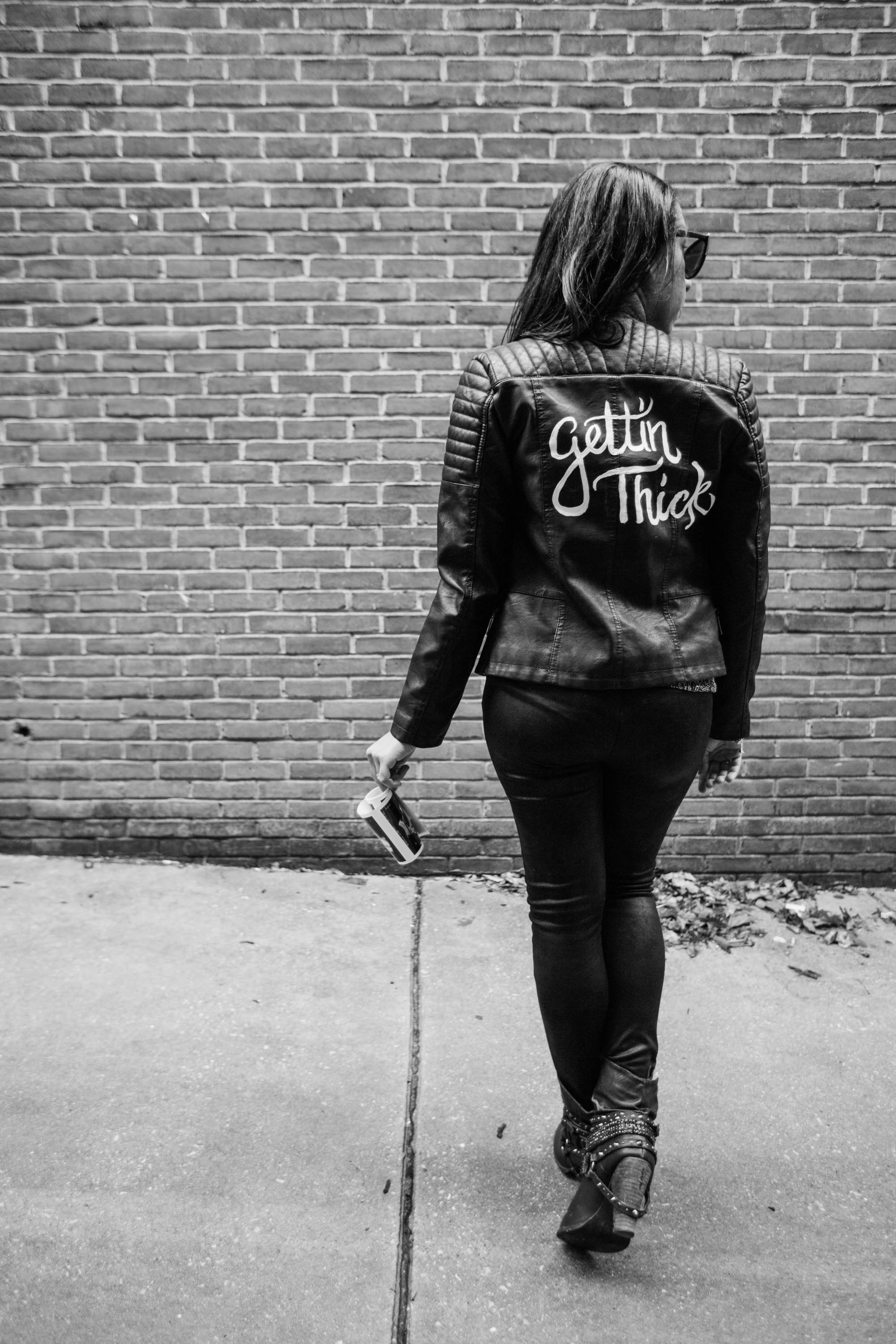 Hand lettered Black Leather jacket Pregnancy Announcement Baltimore Maternity Photographer Megapixels Media Photography-20.jpg