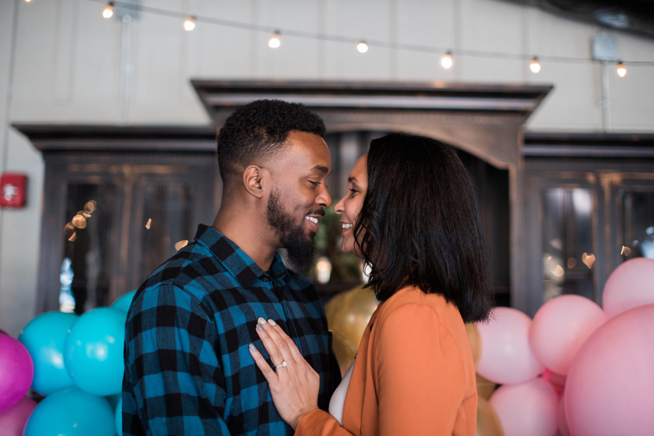 Black engaged couple maryland wedding photographer megapixels media photography main street ballroom ellicott city-2.jpg