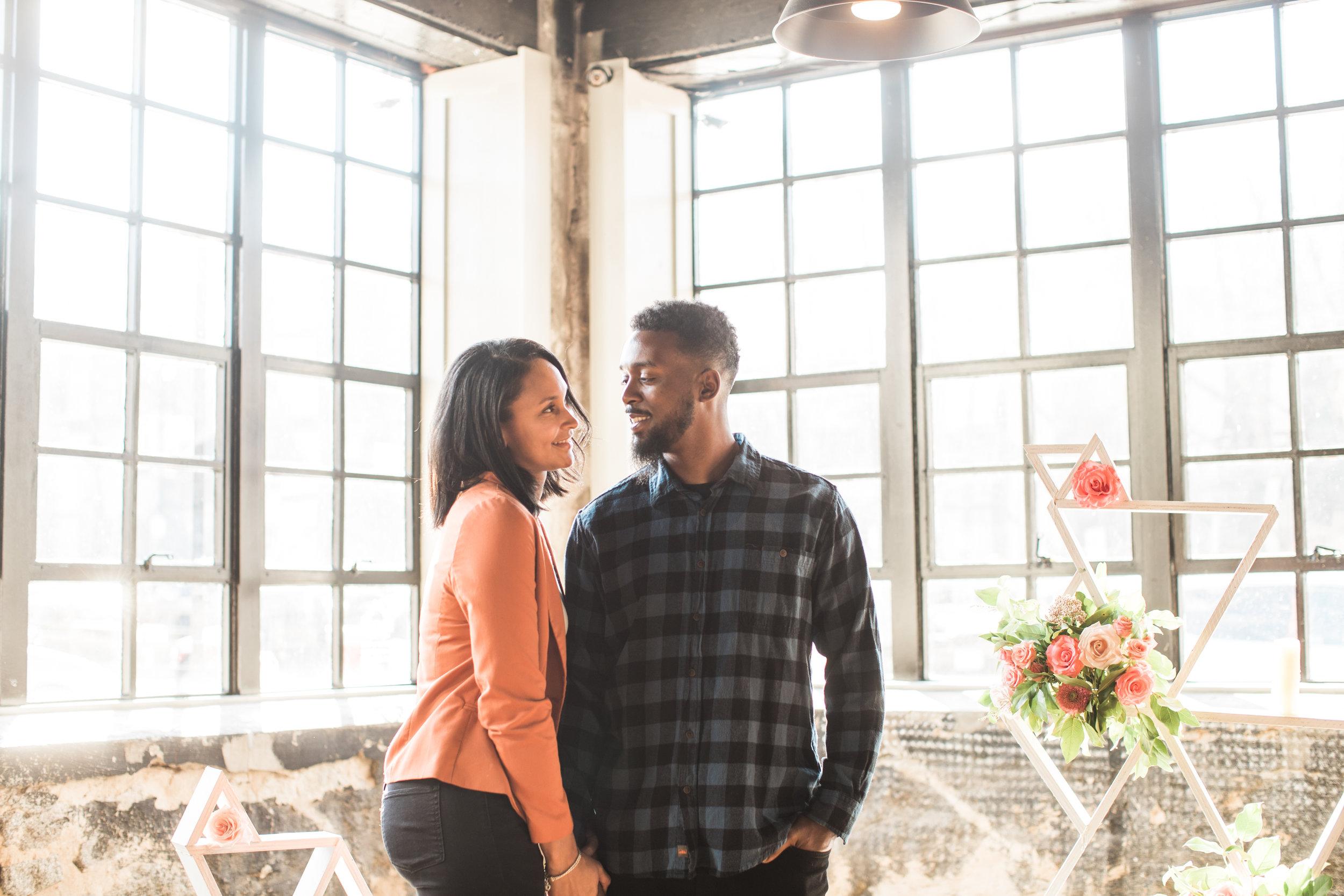 Black engaged couple maryland wedding photographer megapixels media photography main street ballroom ellicott city-9.jpg