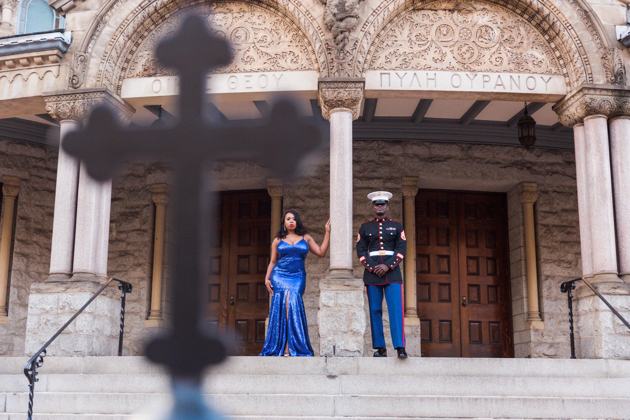 Royal Blue Marine Engagement Session Black Bride Wedding Photographers Megapixels Media Baltimore Maryland Photographers-1.jpg