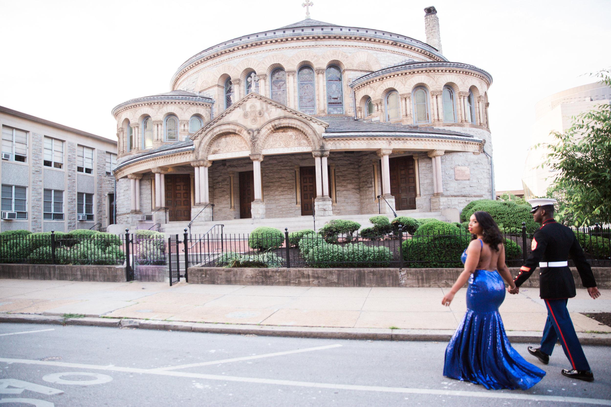 Royal Blue Marine Engagement Session Black Bride Wedding Photographers Megapixels Media Baltimore Maryland Photographers-3.jpg