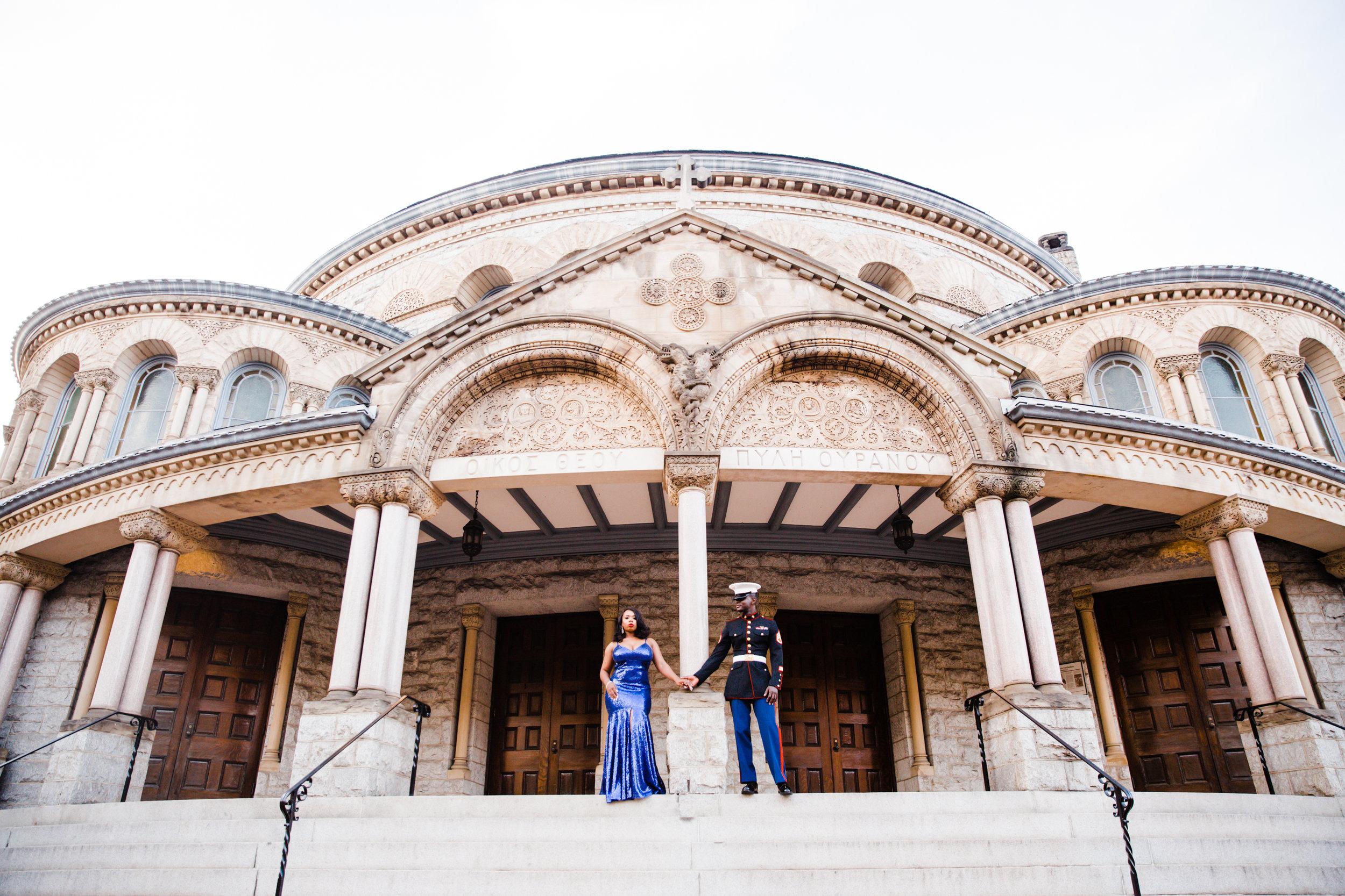Royal Blue Marine Engagement Session Black Bride Wedding Photographers Megapixels Media Baltimore Maryland Photographers-4.jpg