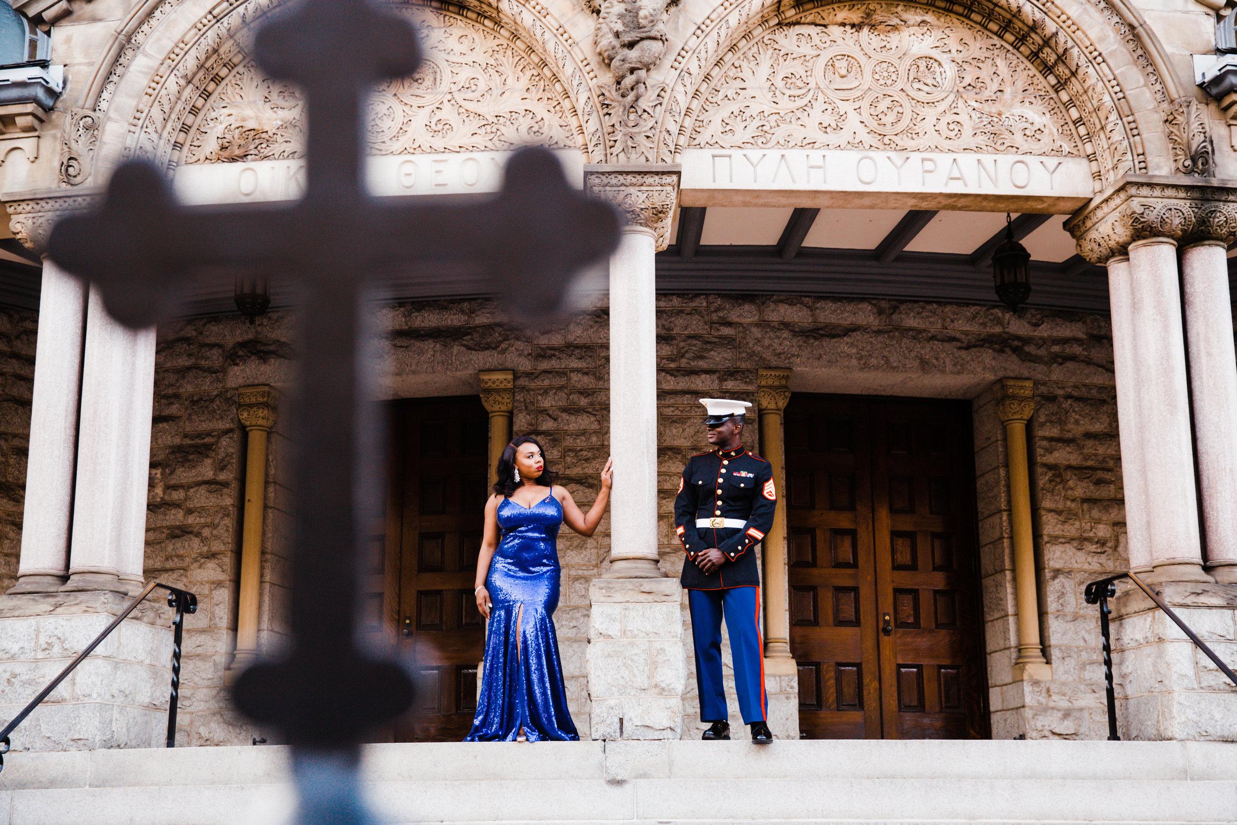 Royal Blue Marine Engagement Session Black Bride Wedding Photographers Megapixels Media Baltimore Maryland Photographers-5.jpg