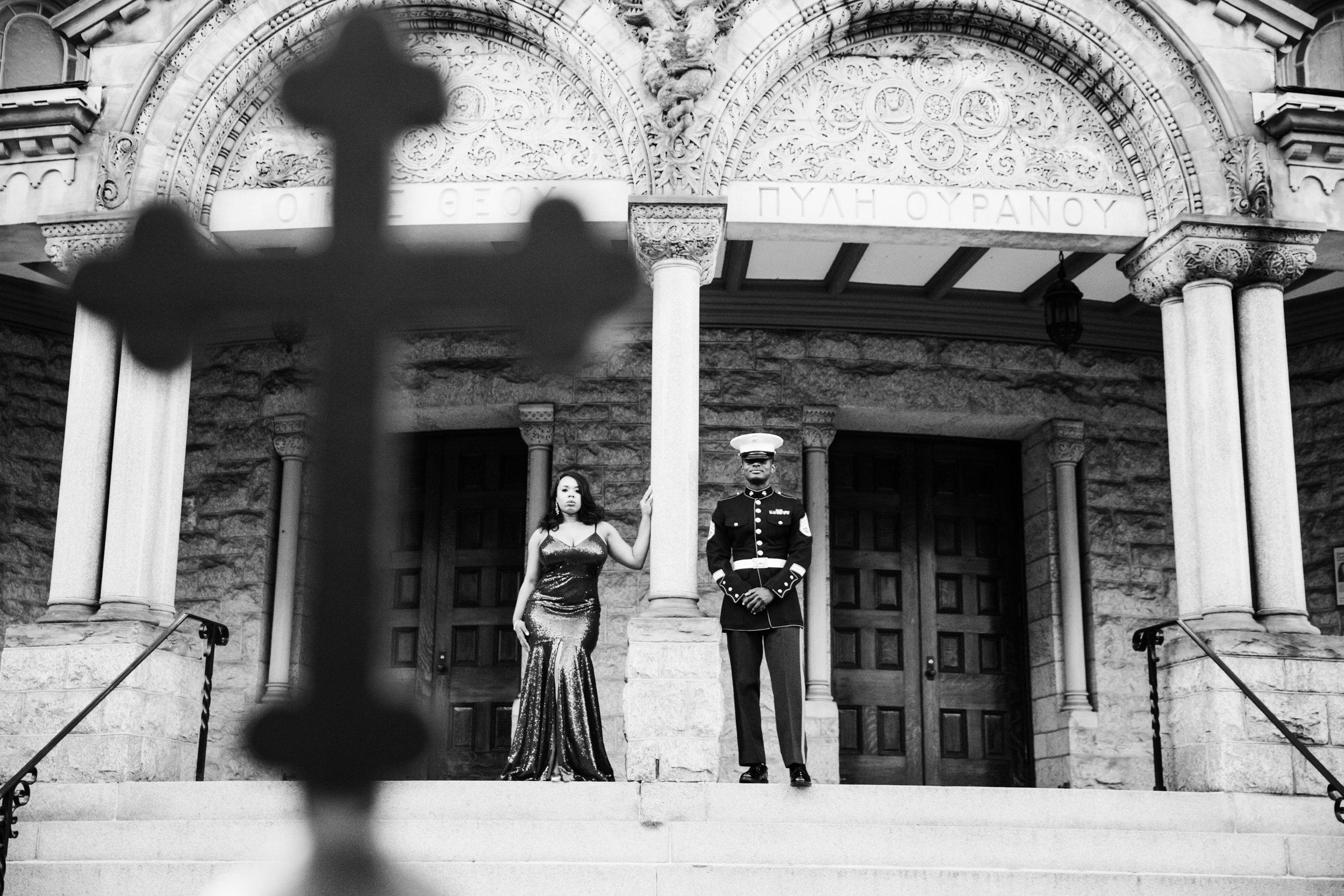 Royal Blue Marine Engagement Session Black Bride Wedding Photographers Megapixels Media Baltimore Maryland Photographers-6.jpg