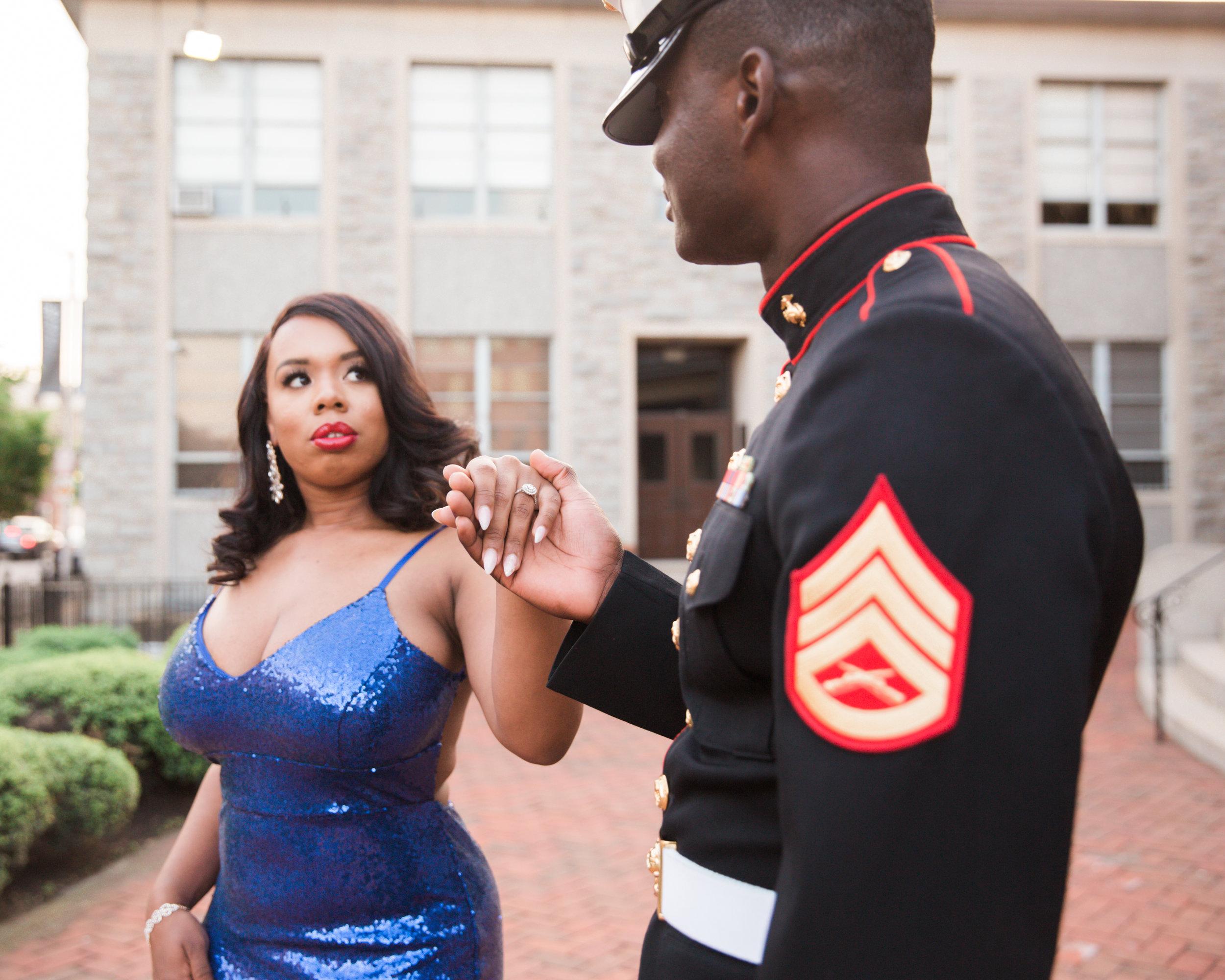 Royal Blue Marine Engagement Session Black Bride Wedding Photographers Megapixels Media Baltimore Maryland Photographers-13.jpg