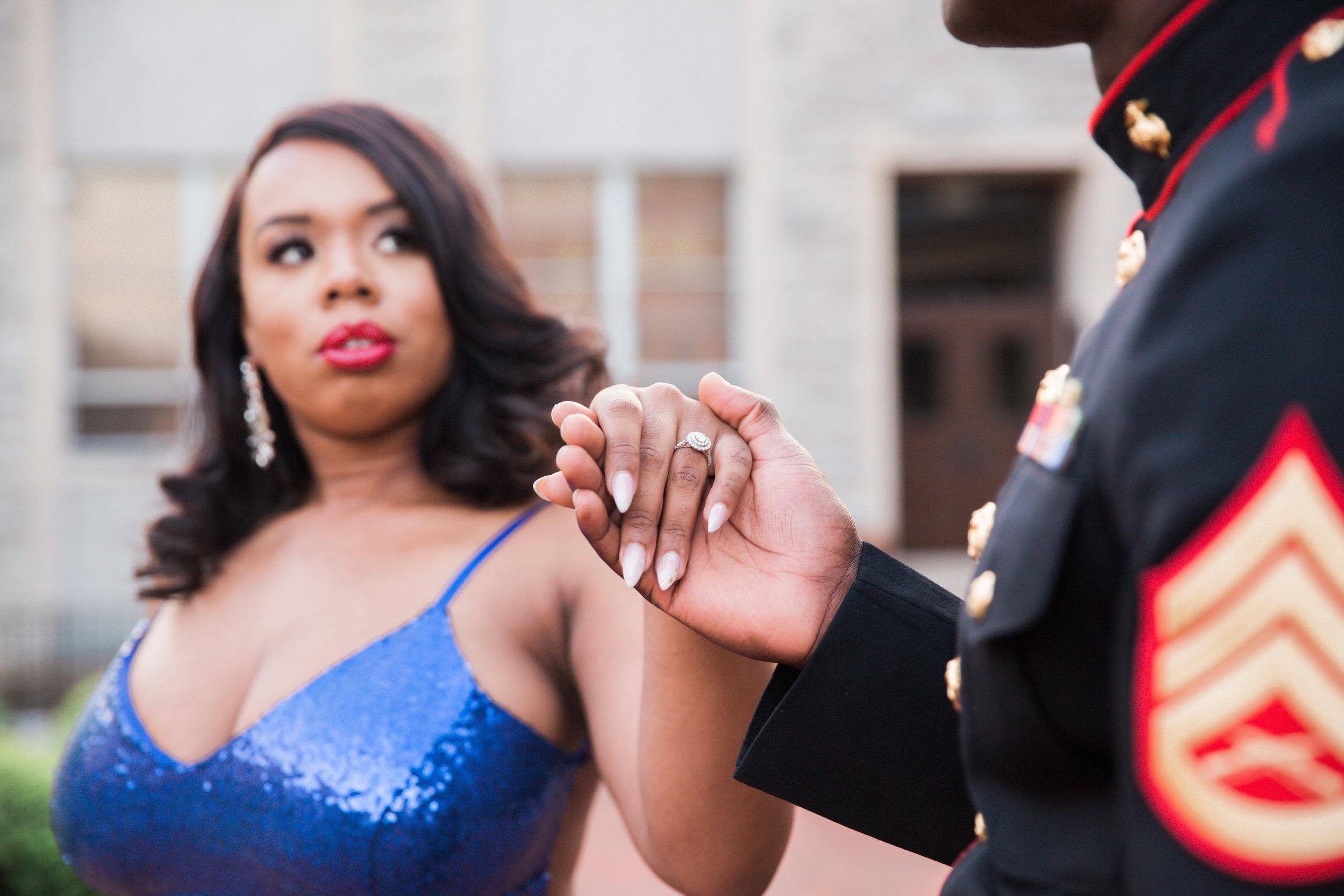 Royal Blue Marine Engagement Session Black Bride Wedding Photographers Megapixels Media Baltimore Maryland Photographers-14.jpg