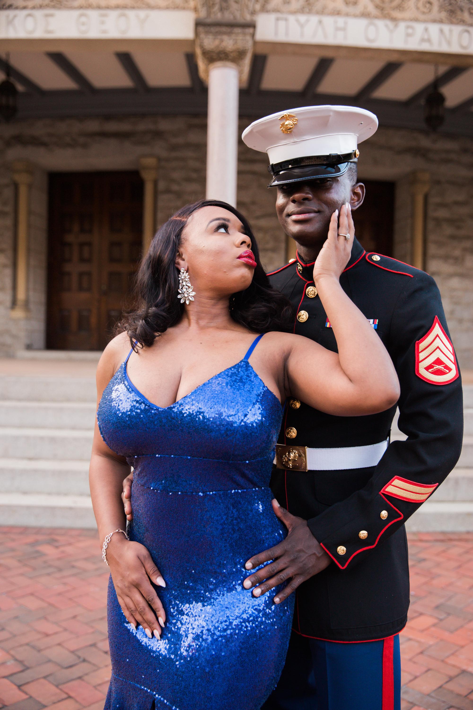 Royal Blue Marine Engagement Session Black Bride Wedding Photographers Megapixels Media Baltimore Maryland Photographers-15.jpg