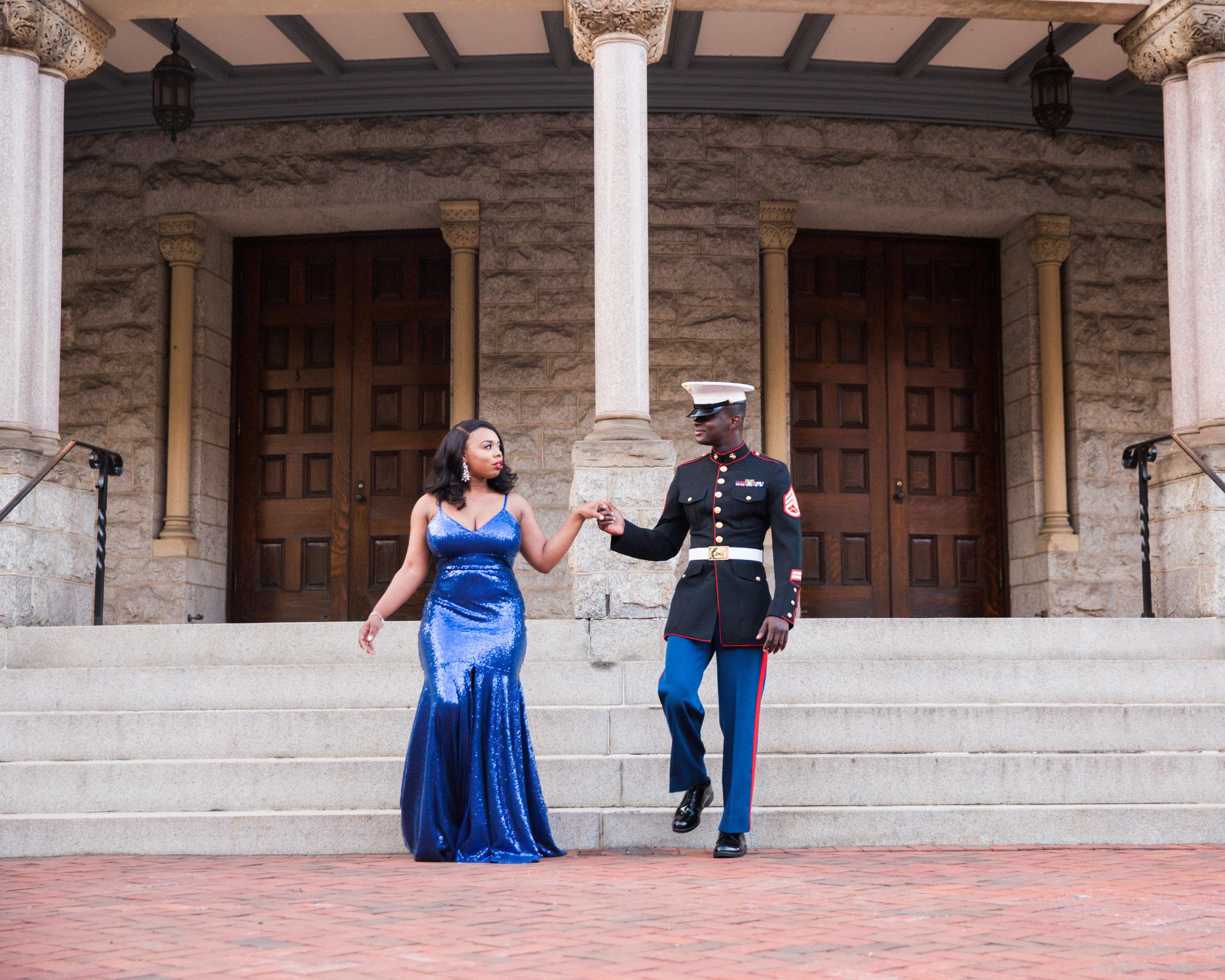 Royal Blue Marine Engagement Session Black Bride Wedding Photographers Megapixels Media Baltimore Maryland Photographers-10.jpg