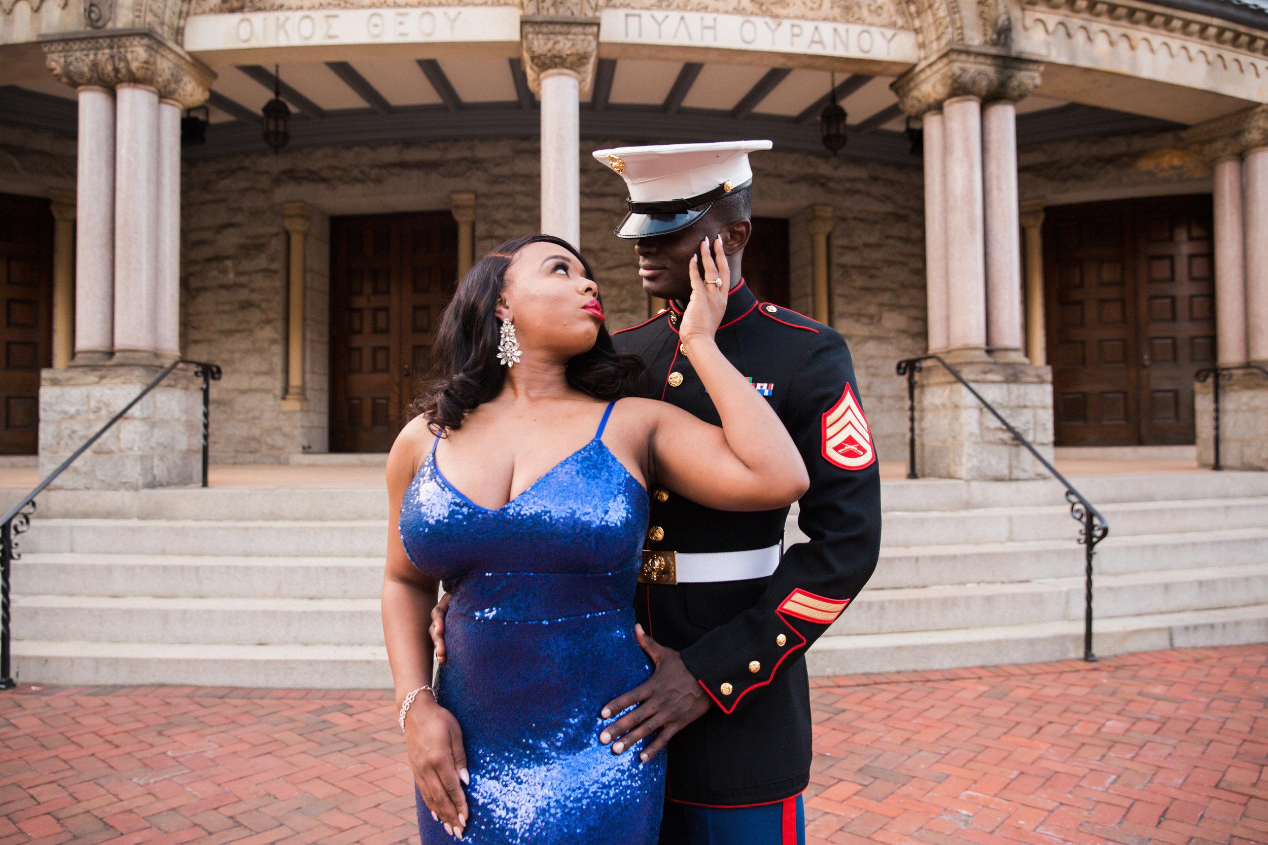 Royal Blue Marine Engagement Session Black Bride Wedding Photographers Megapixels Media Baltimore Maryland Photographers-16.jpg