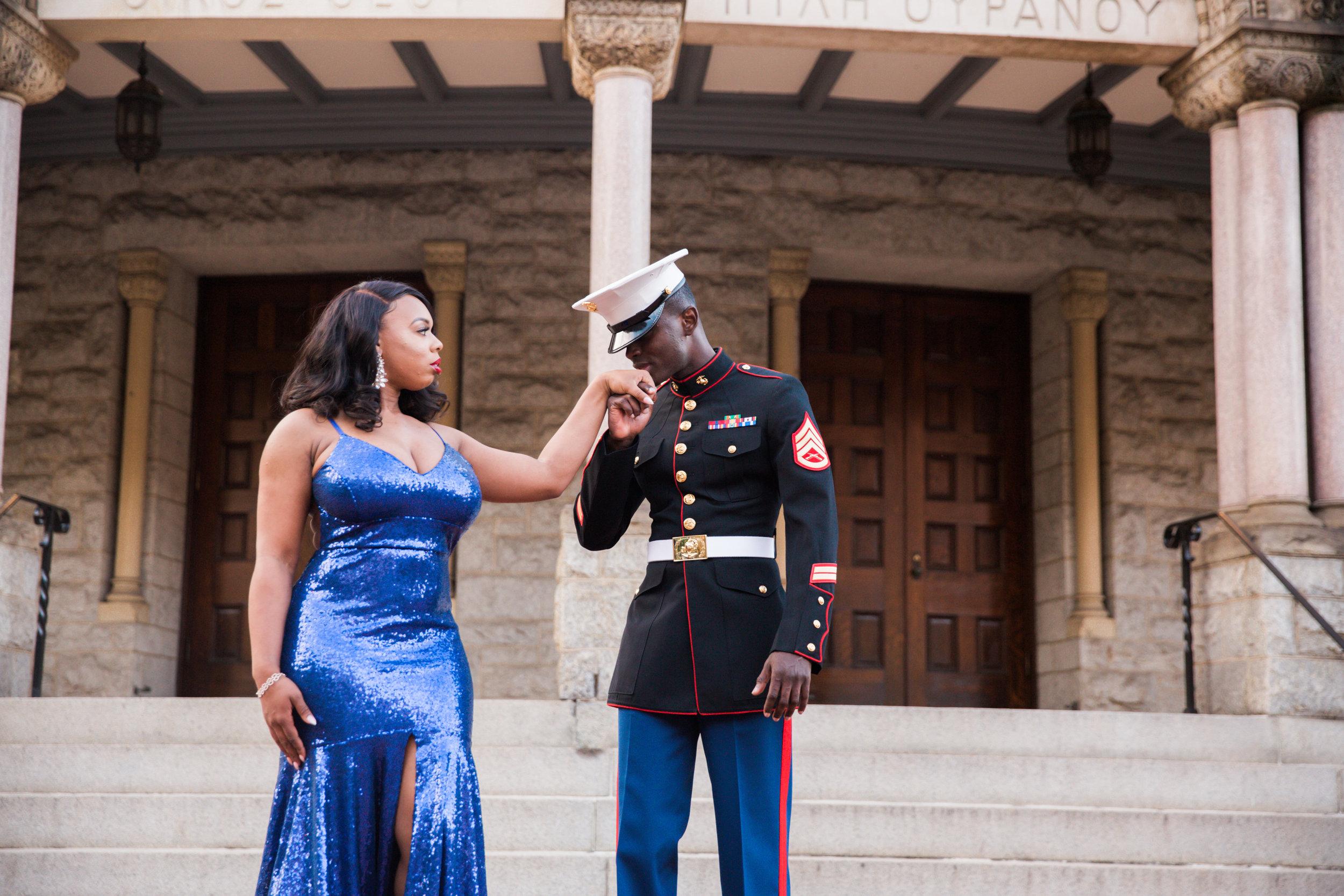 Royal Blue Marine Engagement Session Black Bride Wedding Photographers Megapixels Media Baltimore Maryland Photographers-11.jpg
