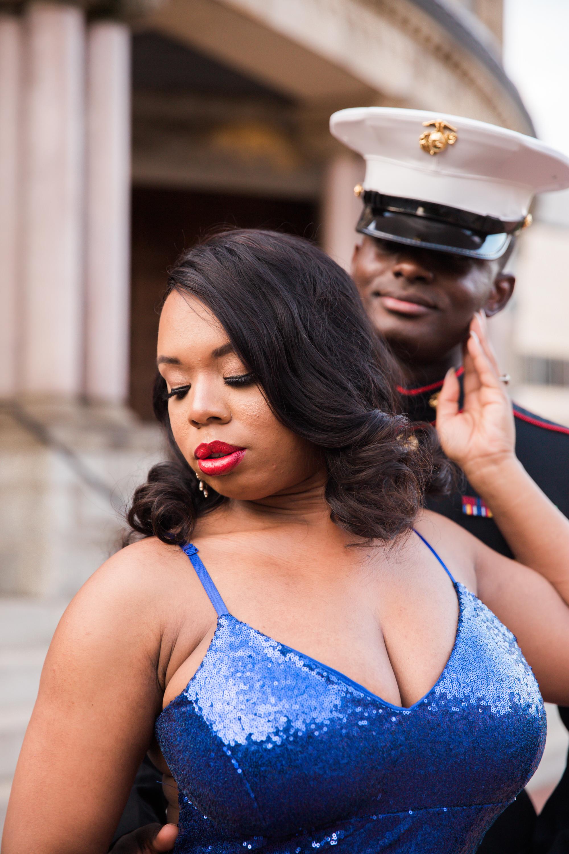 Royal Blue Marine Engagement Session Black Bride Wedding Photographers Megapixels Media Baltimore Maryland Photographers-17.jpg