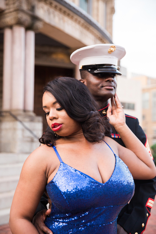 Royal Blue Marine Engagement Session Black Bride Wedding Photographers Megapixels Media Baltimore Maryland Photographers-18.jpg