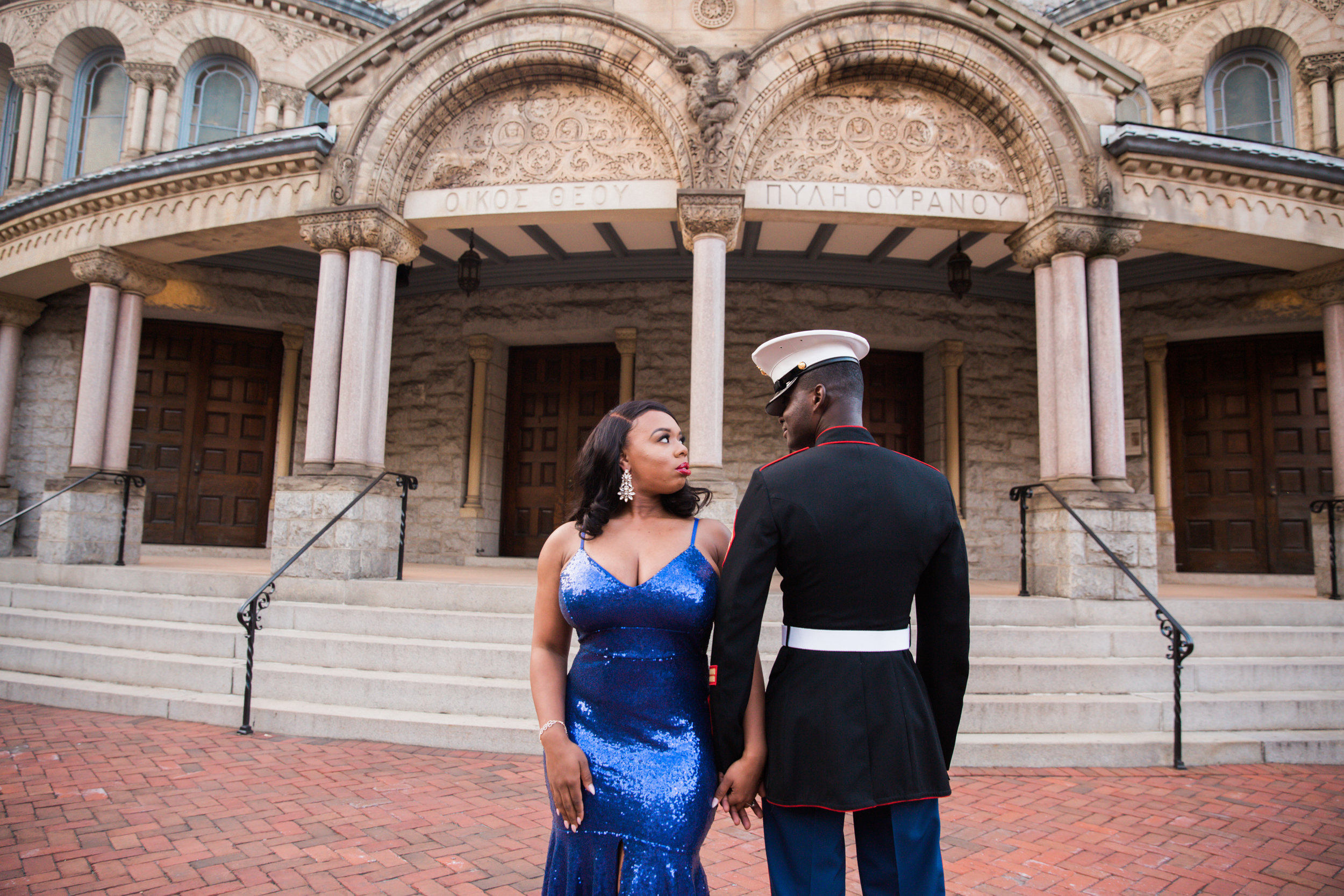 Royal Blue Marine Engagement Session Black Bride Wedding Photographers Megapixels Media Baltimore Maryland Photographers-19.jpg